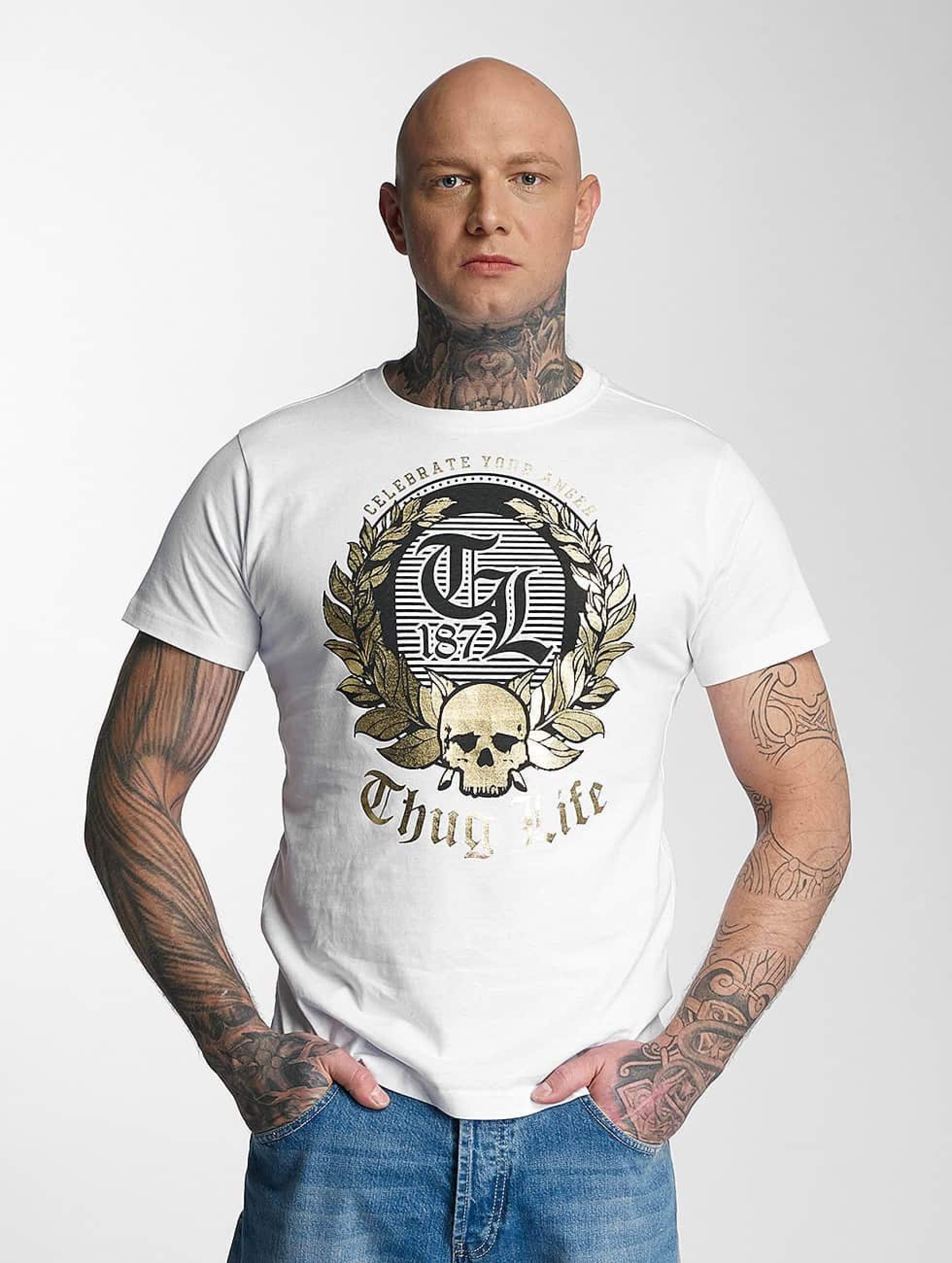 Thug Life / T-Shirt Celebrate in white S