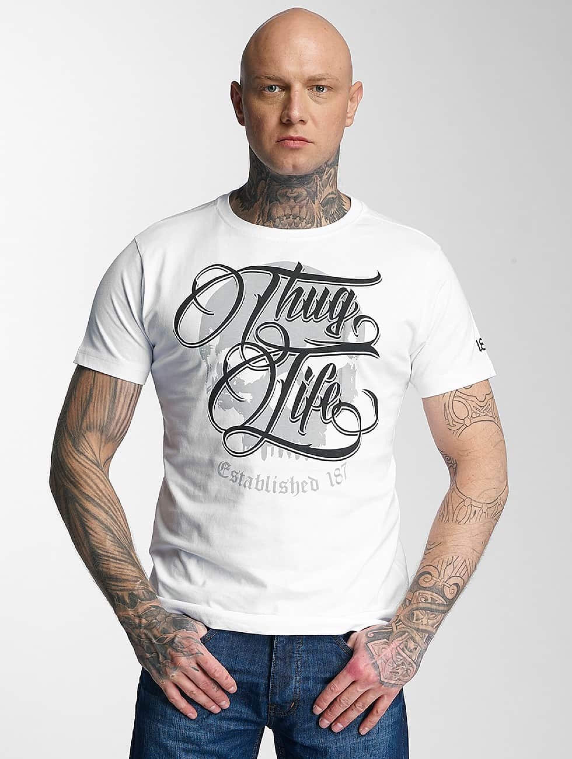 Thug Life / T-Shirt 187 in white S