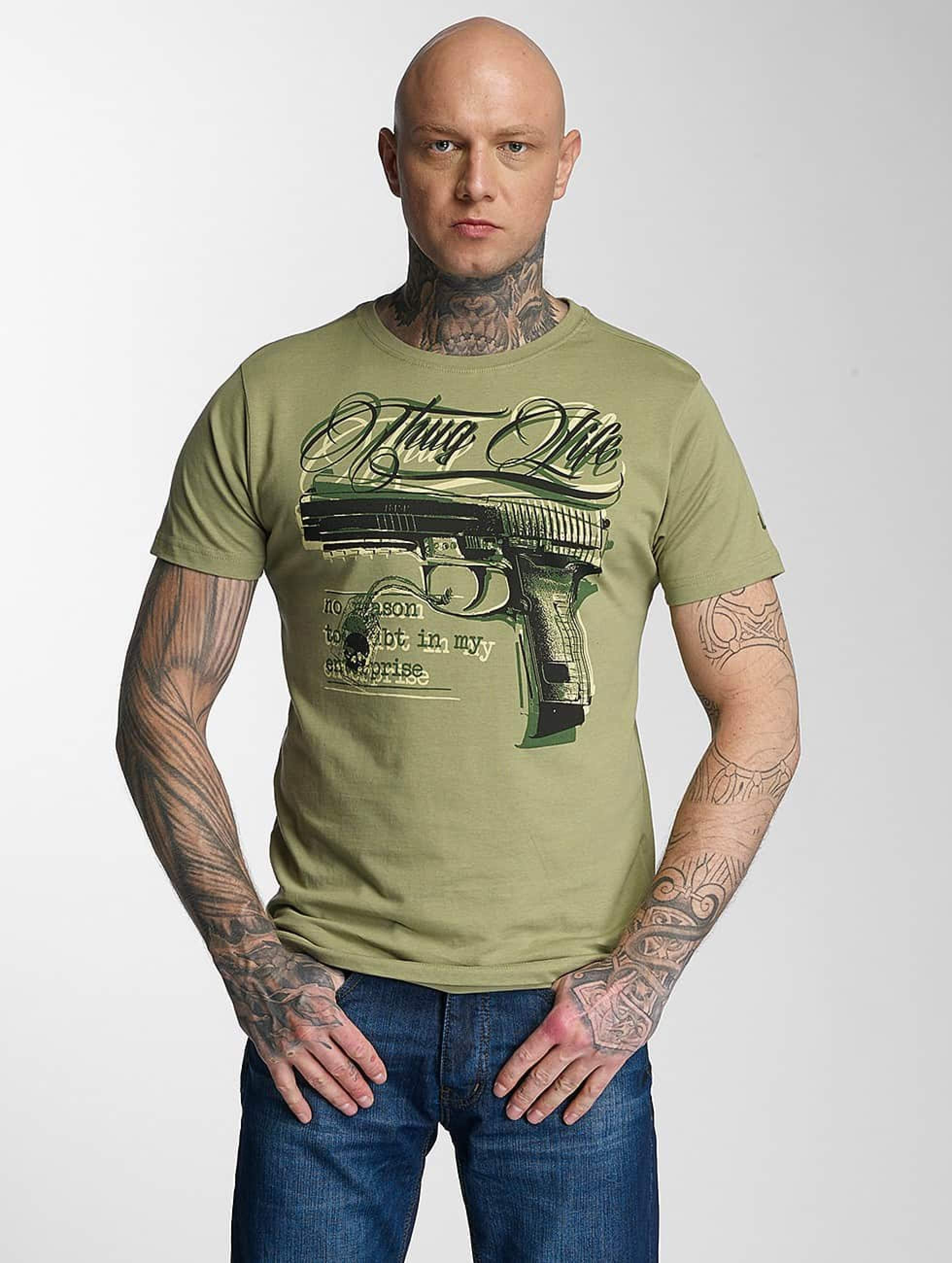 Thug Life / T-Shirt No Reason in olive S
