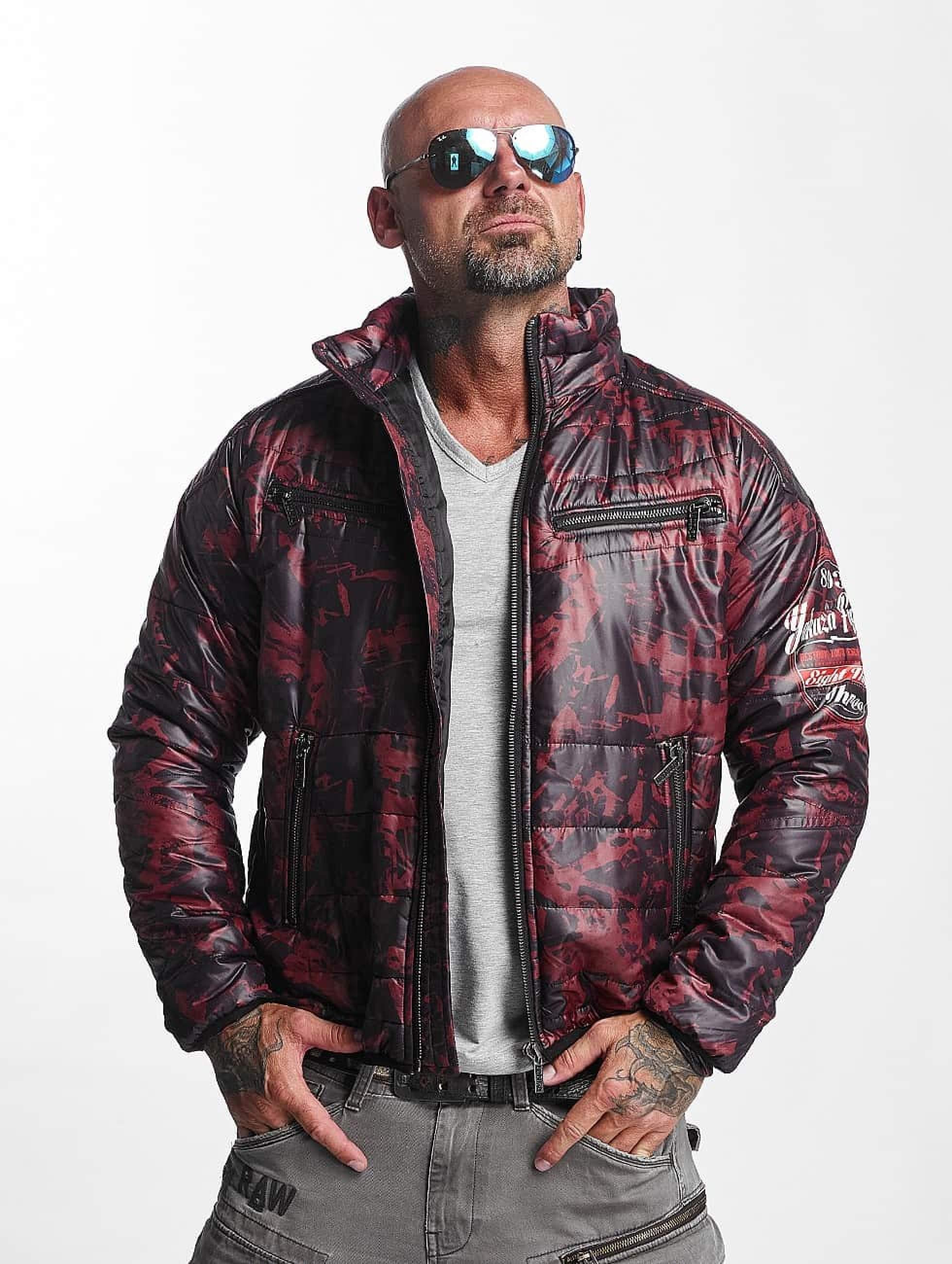 Yakuza | Trashed Quilted rouge Homme Veste mi-saison légère