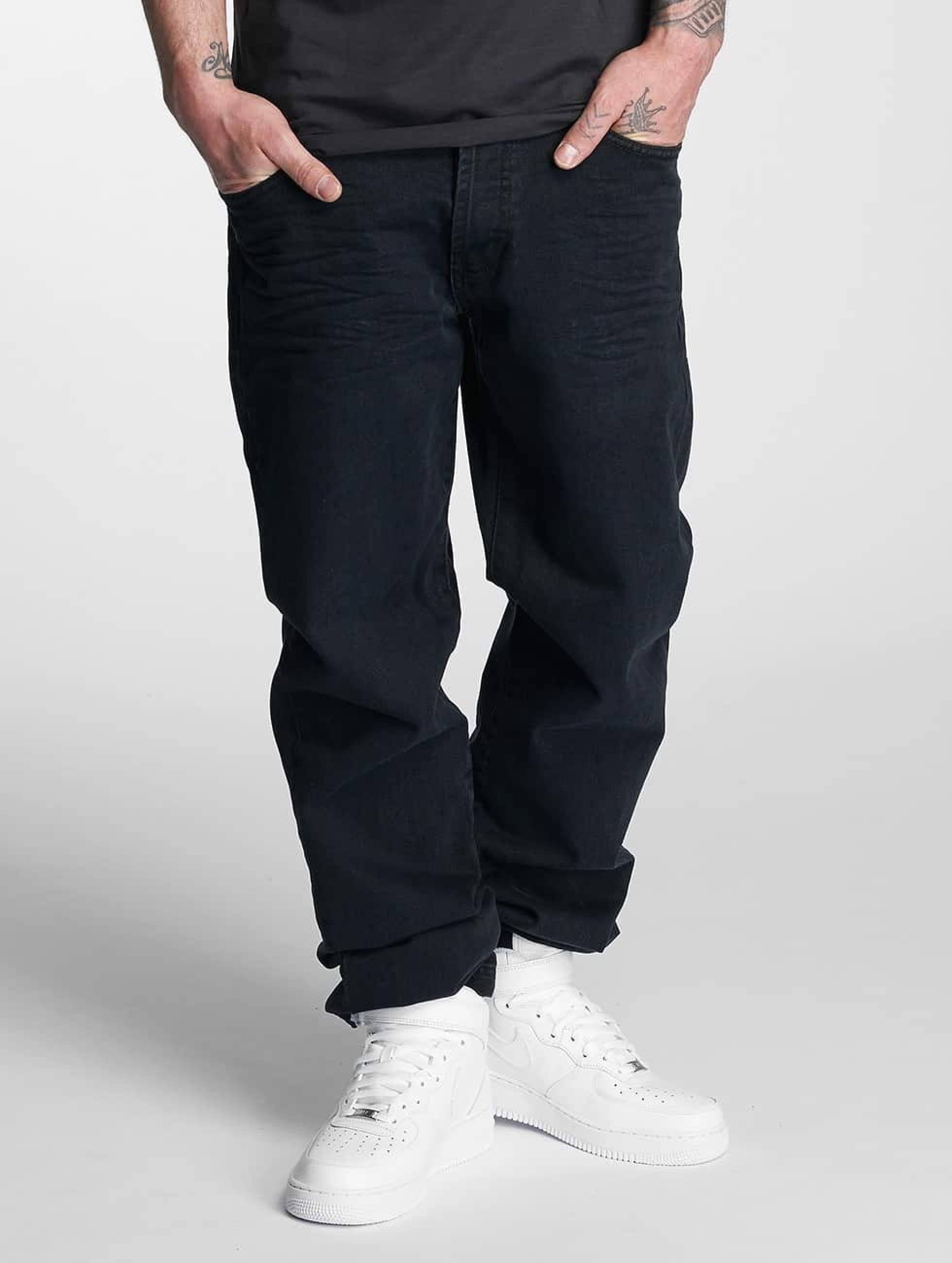 Thug Life / Loose Fit Jeans Carrot in black W 33 L 34