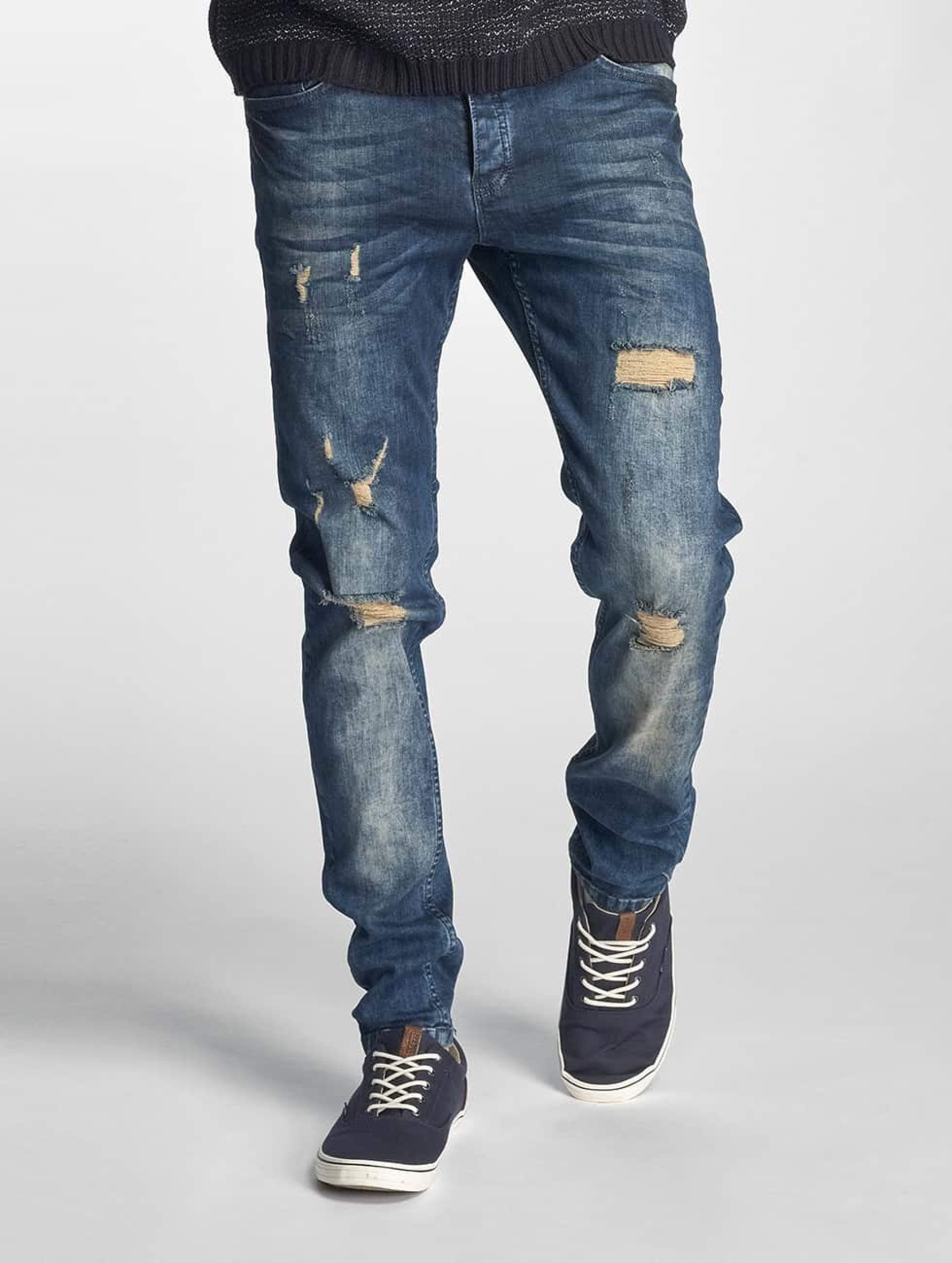 Just Rhyse / Straight Fit Jeans Destroyed in blue W 33