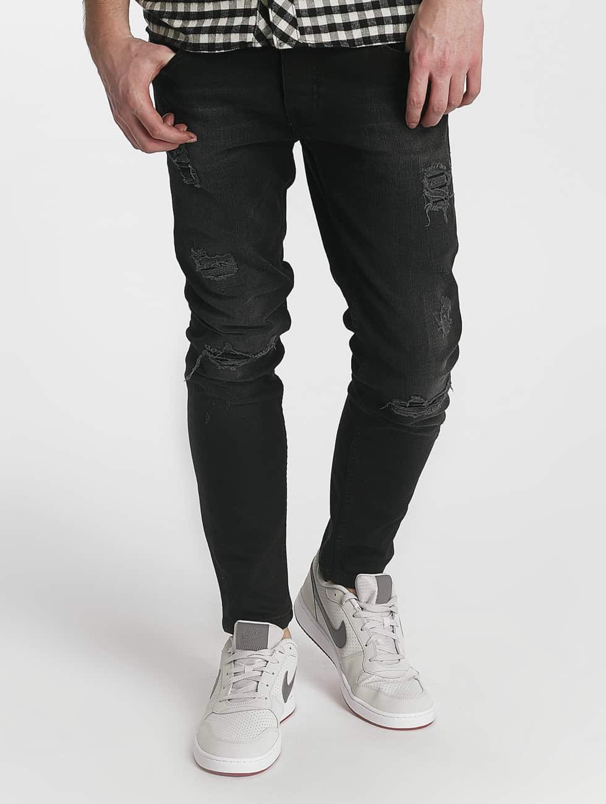 Just Rhyse / Straight Fit Jeans Destroyed in grey W 31
