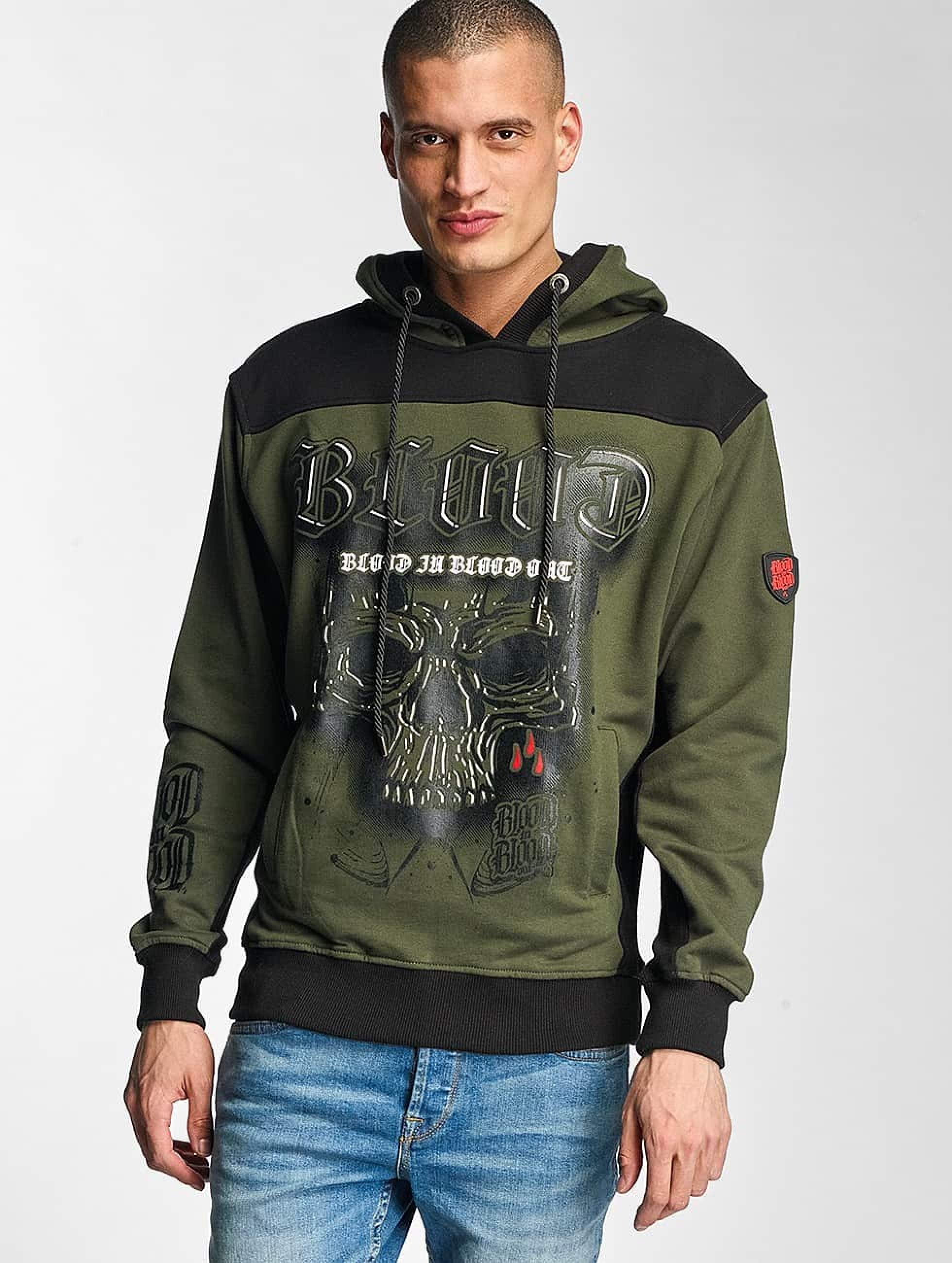 Blood In Blood Out | Chivato  vert Homme Sweat capuche