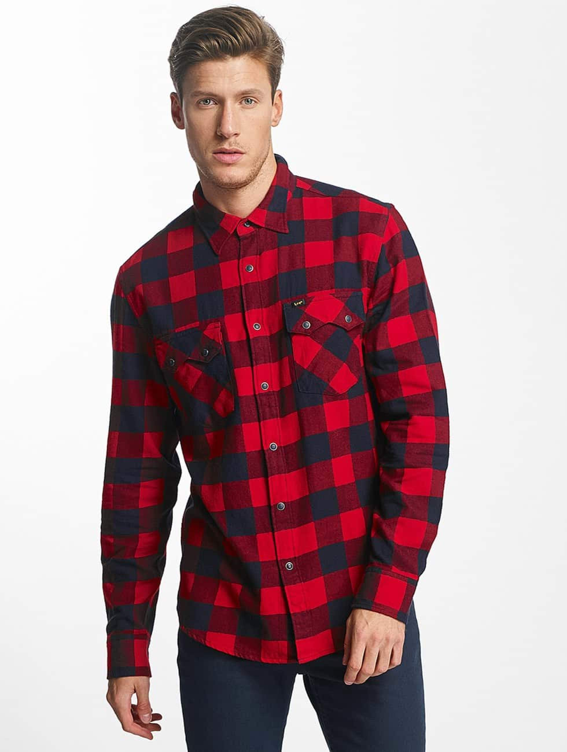 Lee Männer Hemd Rider in rot