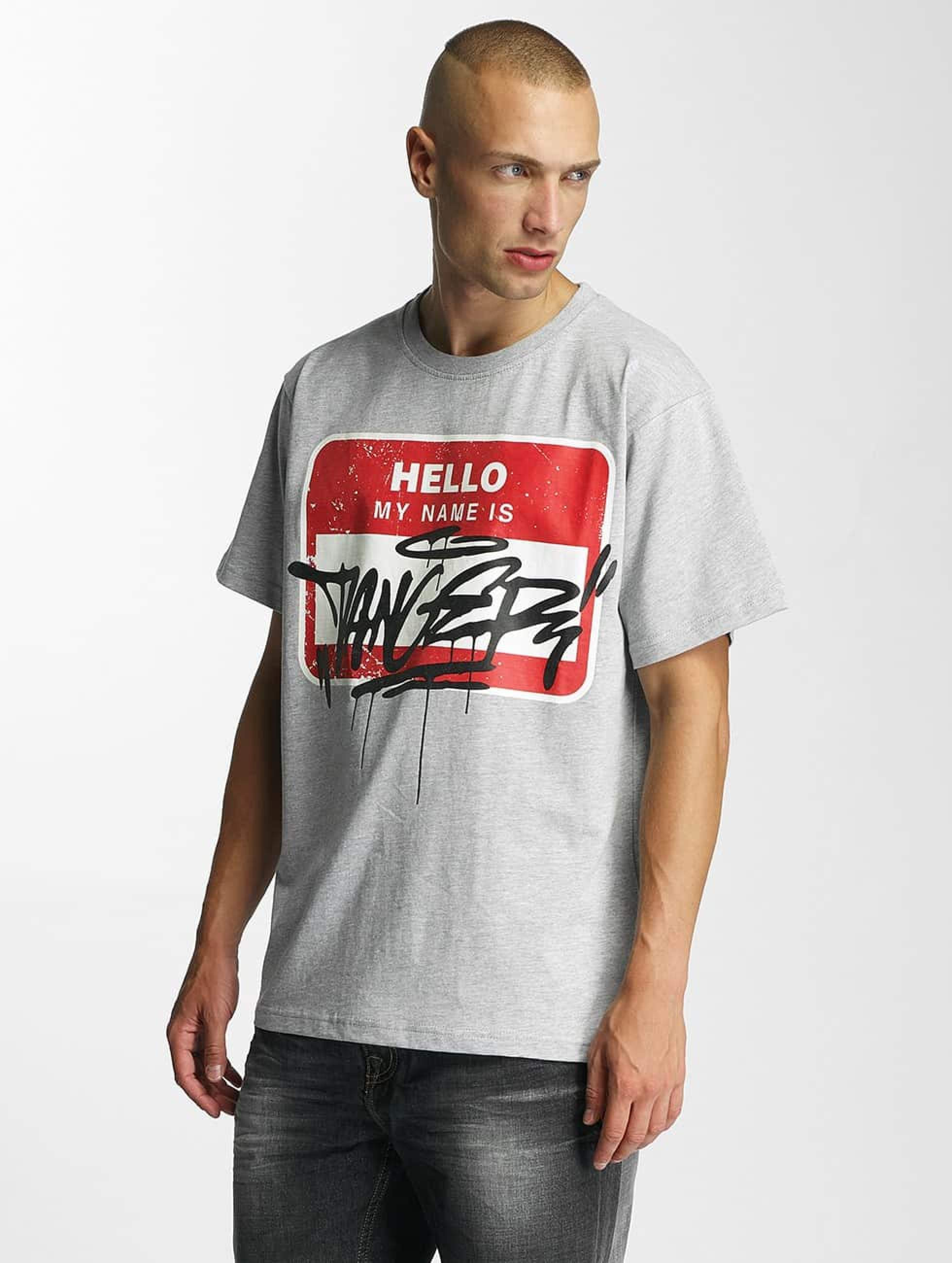 Dangerous DNGRS / T-Shirt Hello in grey L
