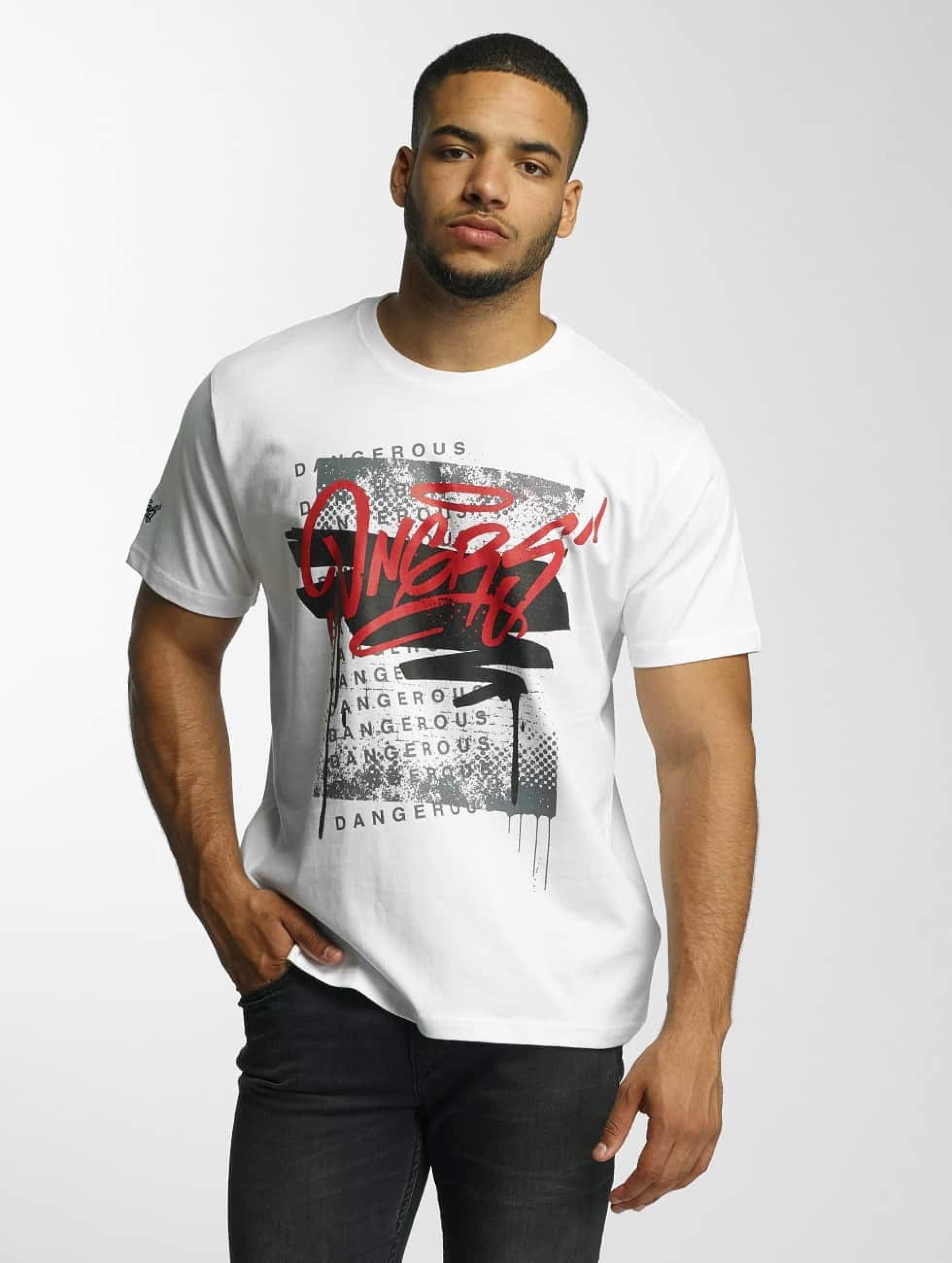 Dangerous DNGRS / T-Shirt Scratchwork in white S