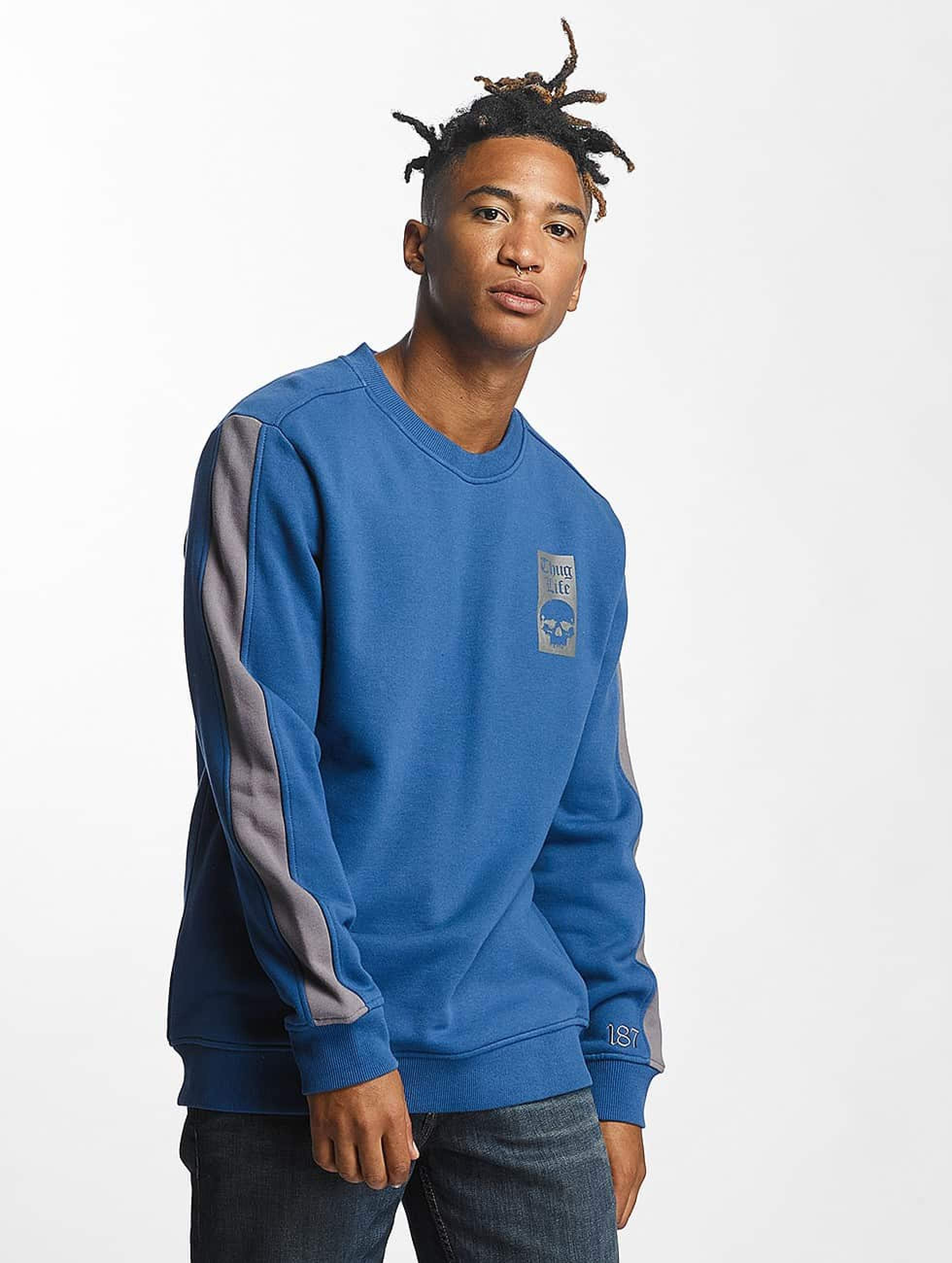 Thug Life / Jumper Simple in blue S