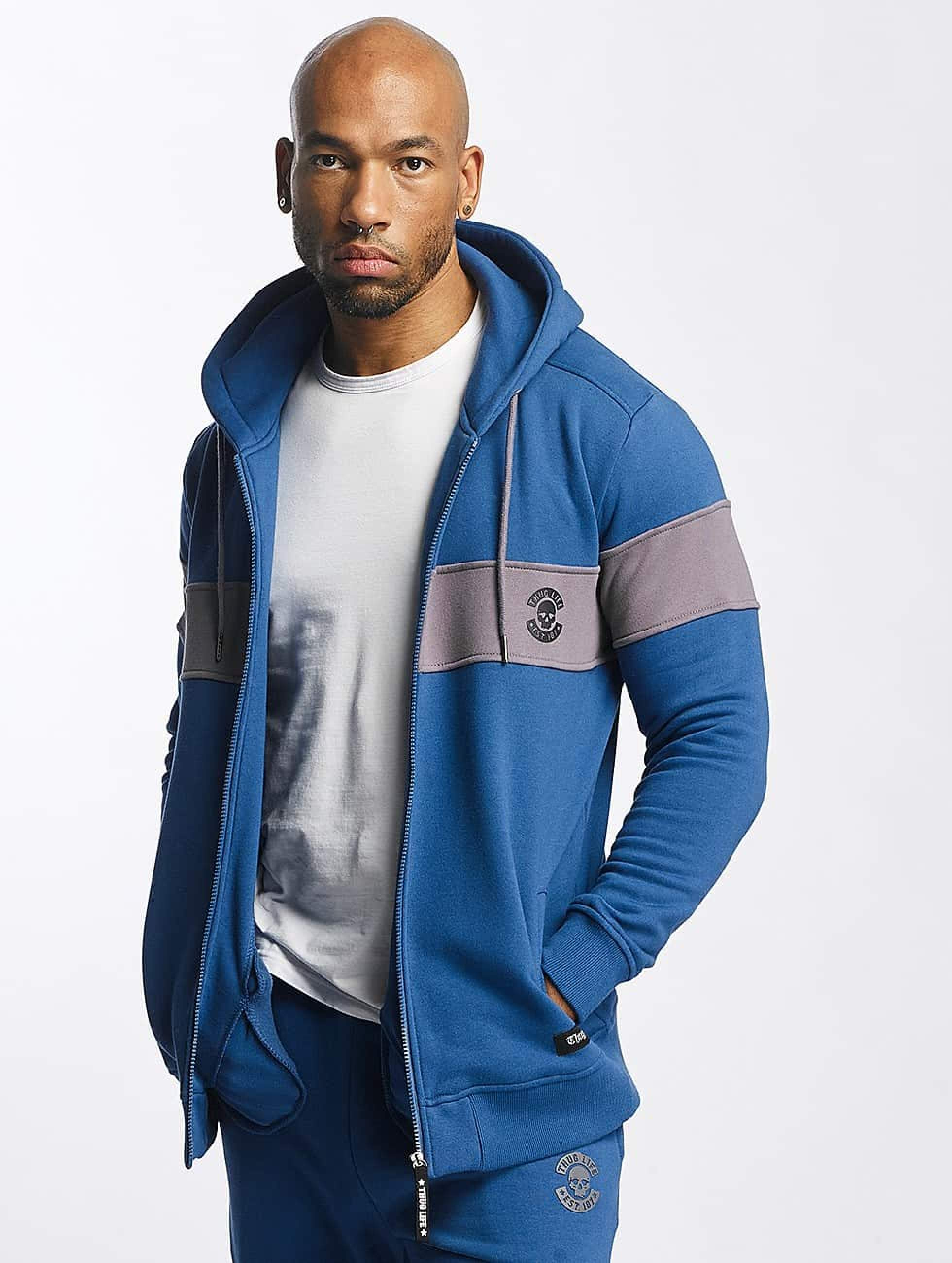 Thug Life / Zip Hoodie Bar in blue S
