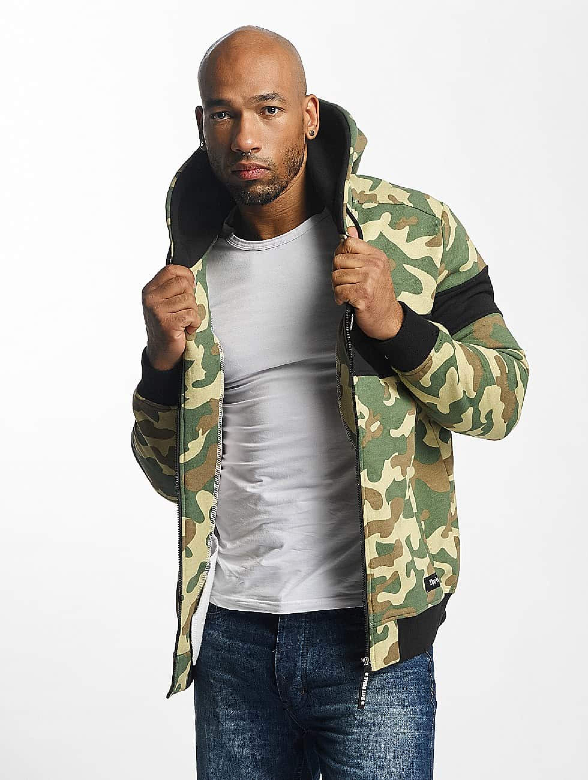 Thug Life / Zip Hoodie Bar in camouflage XL