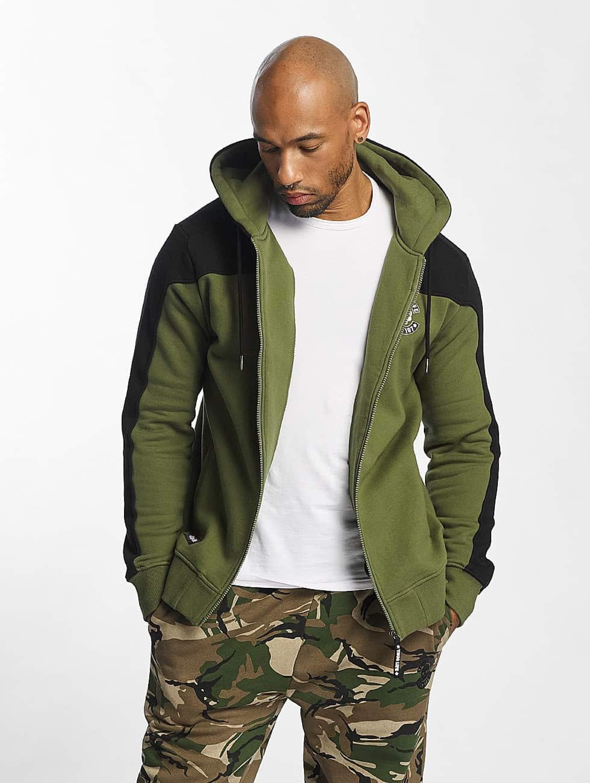Thug Life / Zip Hoodie Crock in olive 3XL