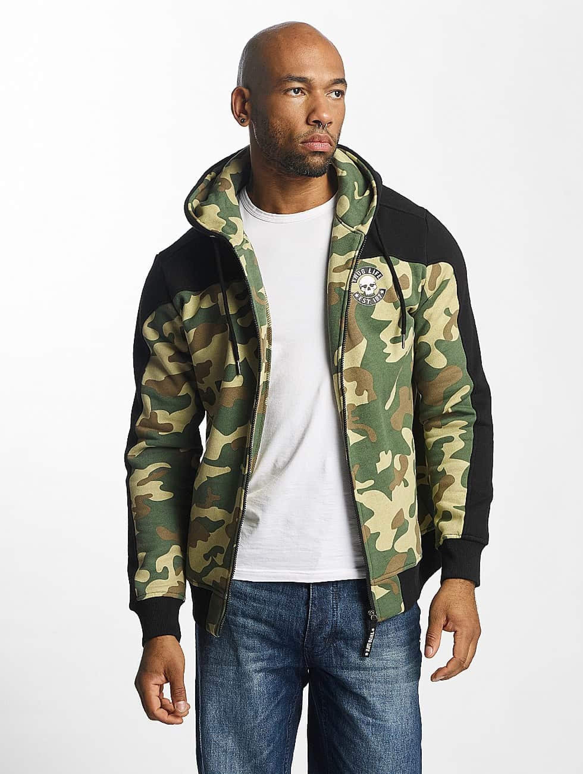 Thug Life / Zip Hoodie Crock in camouflage XL