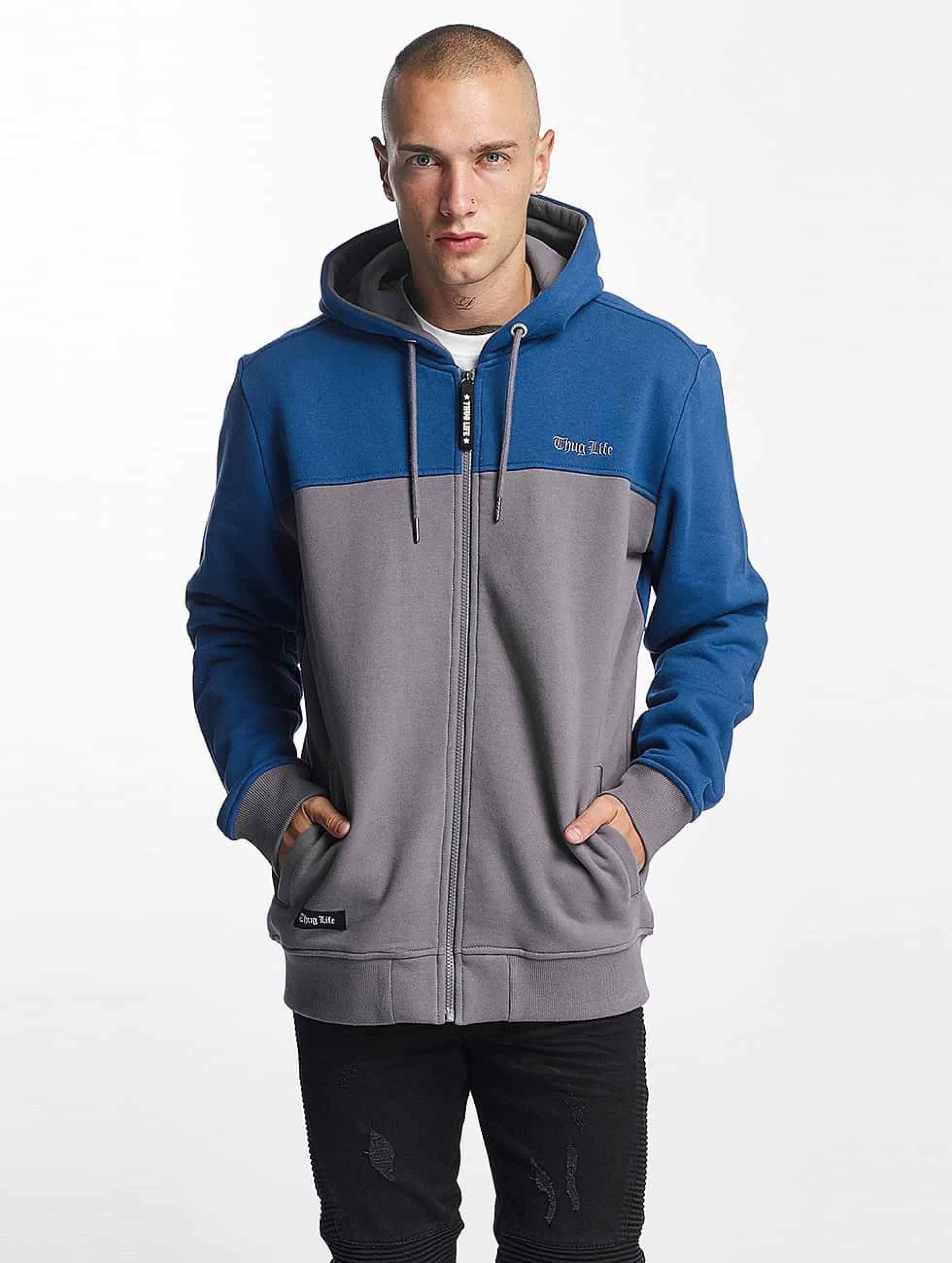 Thug Life / Zip Hoodie THGLFE in blue XL