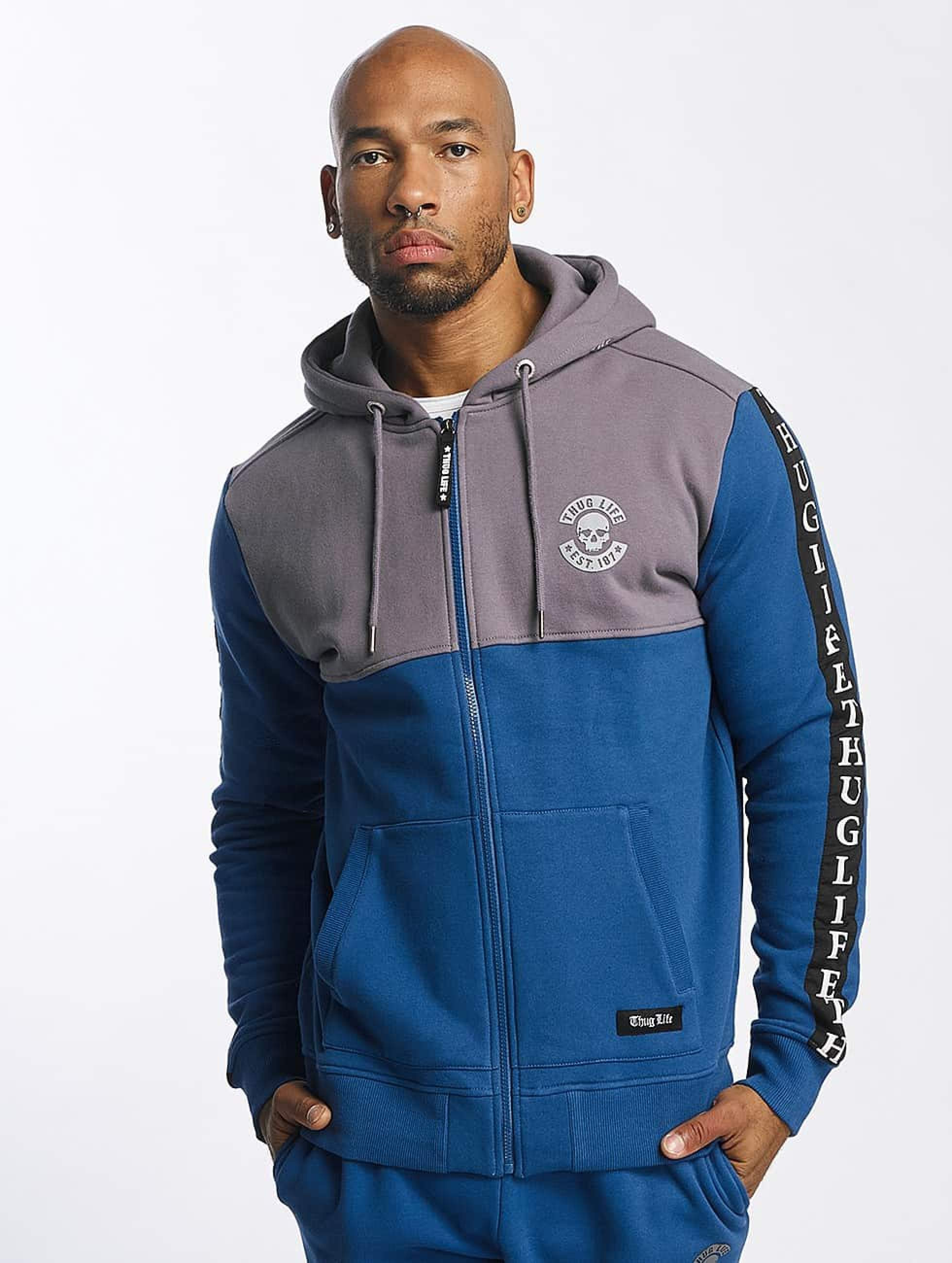 Thug Life / Zip Hoodie Wired in blue S