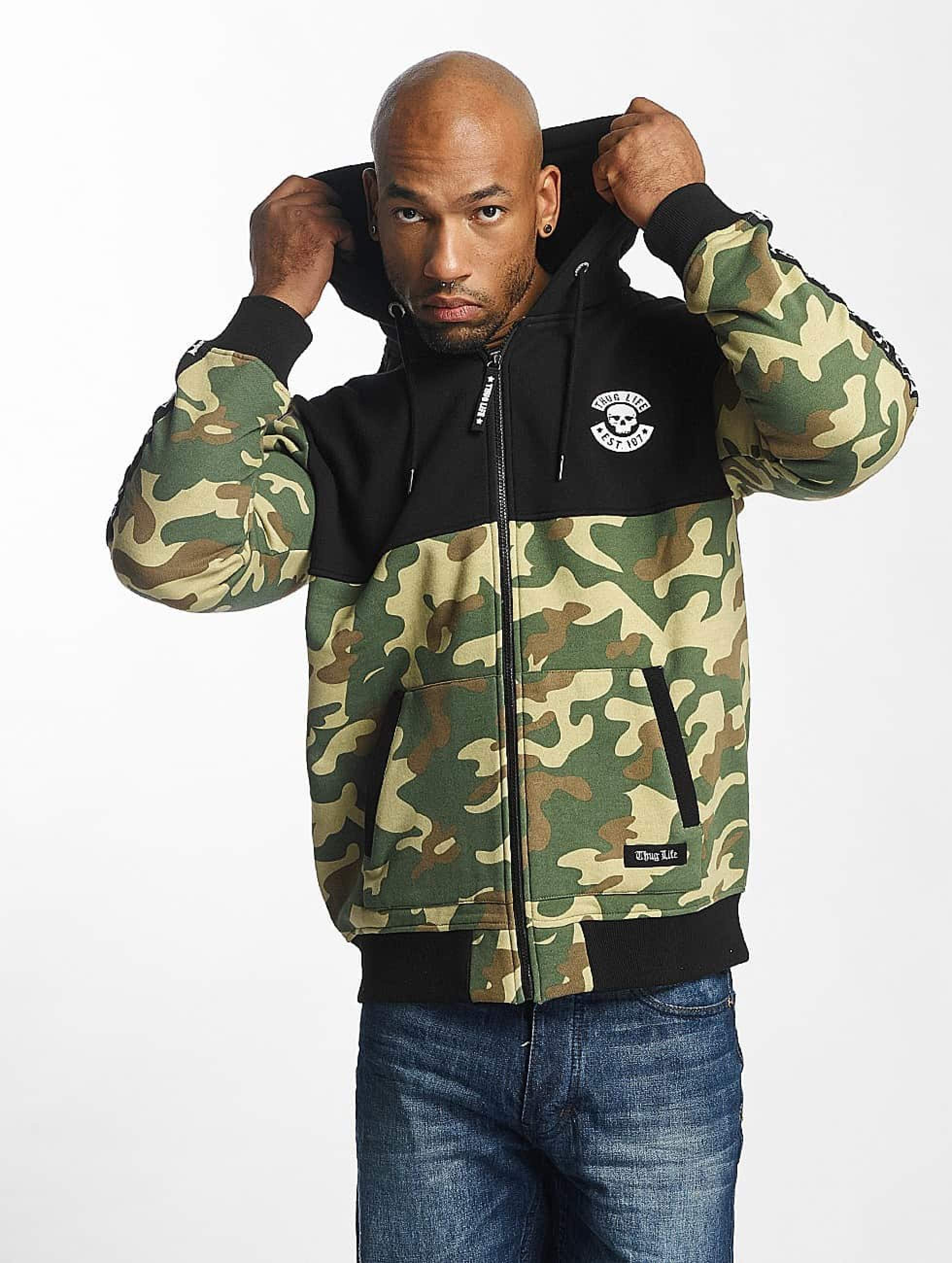 Thug Life / Zip Hoodie Wired in camouflage S
