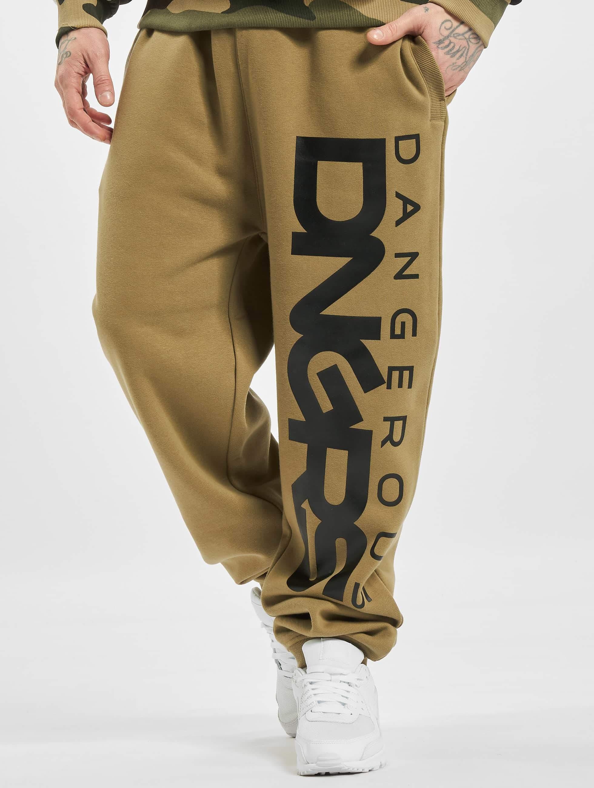 Dangerous DNGRS / Sweat Pant Classic in khaki 2XL