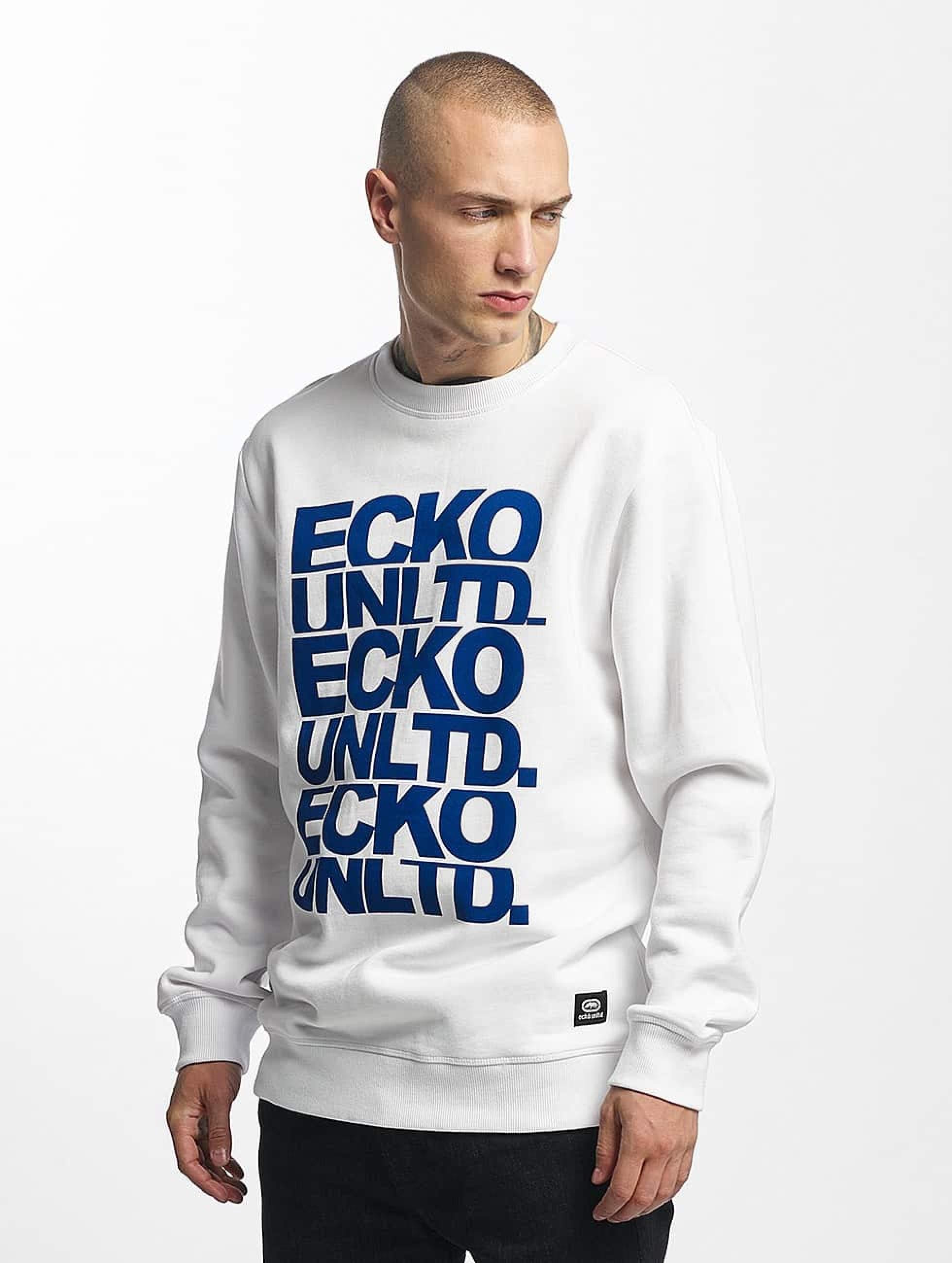 Ecko Unltd. / Jumper Fuerteventura in white 2XL