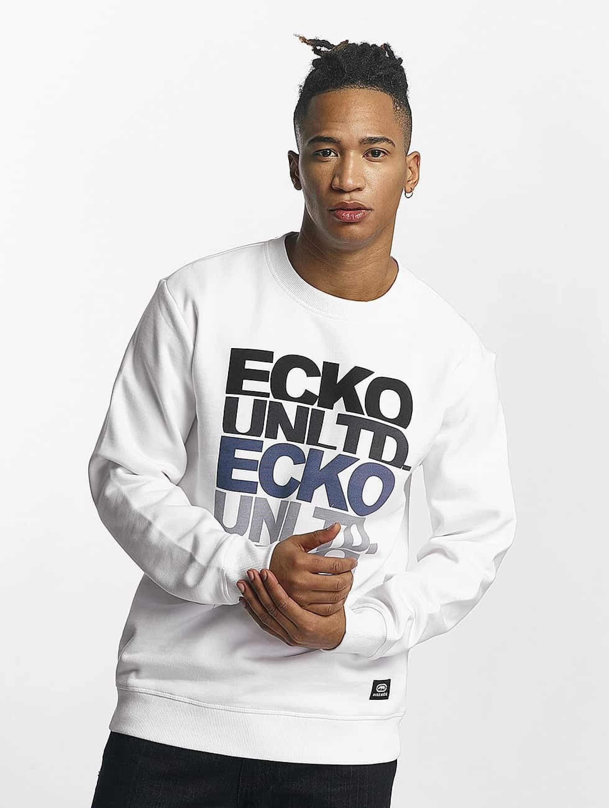 Ecko Unltd. / Jumper Fuerteventura in white 4XL