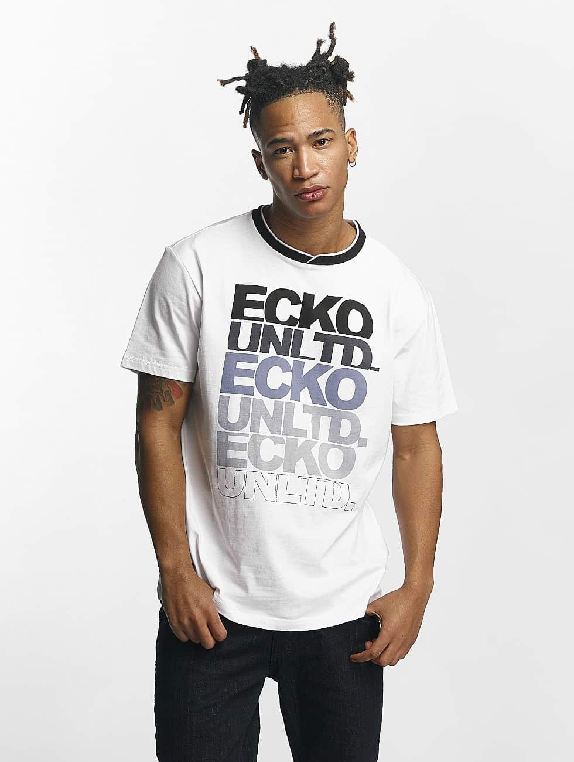 Ecko Unltd. / T-Shirt Fuerteventura in white 4XL