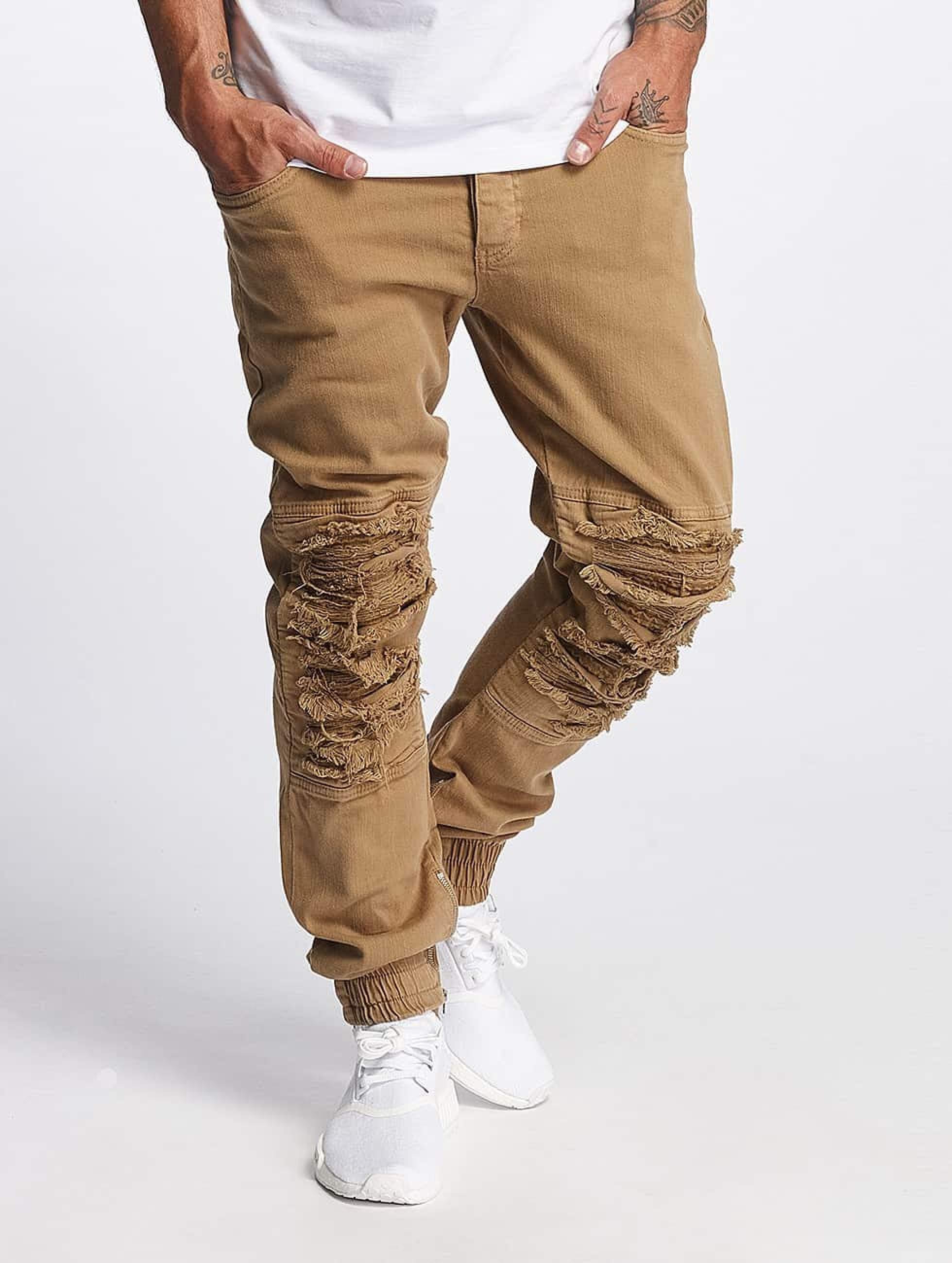Bangastic / Slim Fit Jeans Matteo in beige W 38