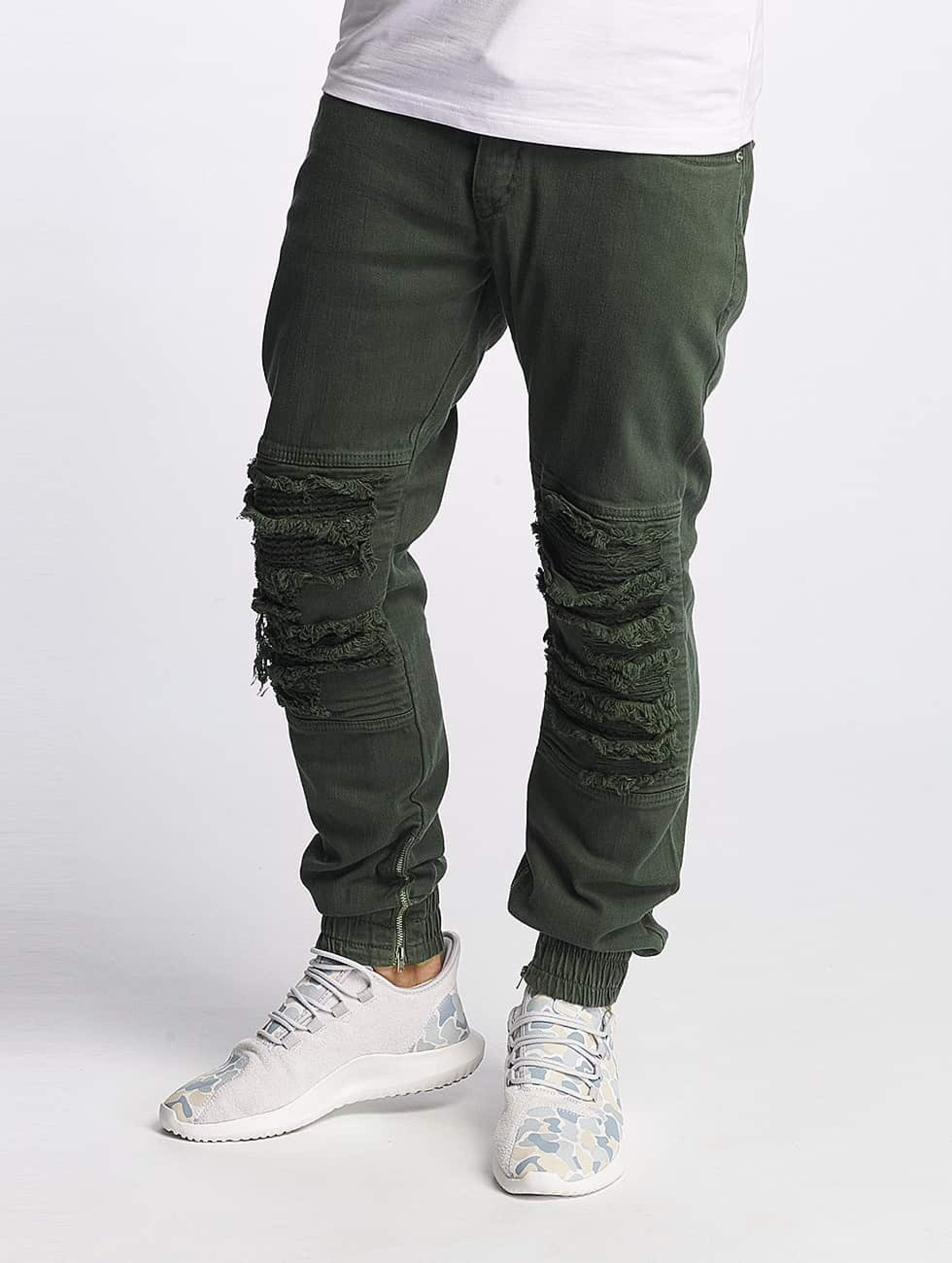 Bangastic / Slim Fit Jeans BGJS254 in olive W 33