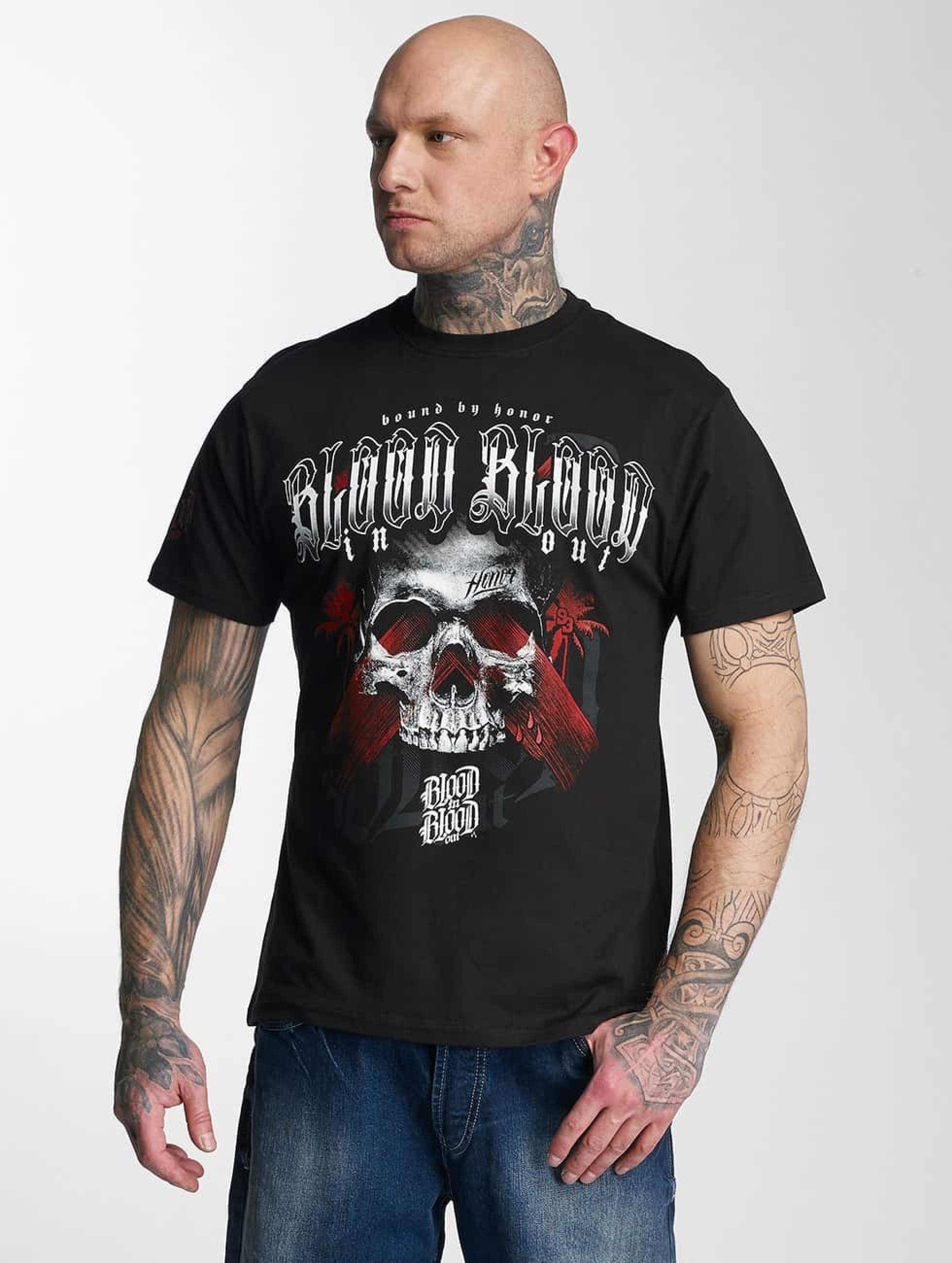 Blood In Blood Out   Black Honor noir Homme T-Shirt