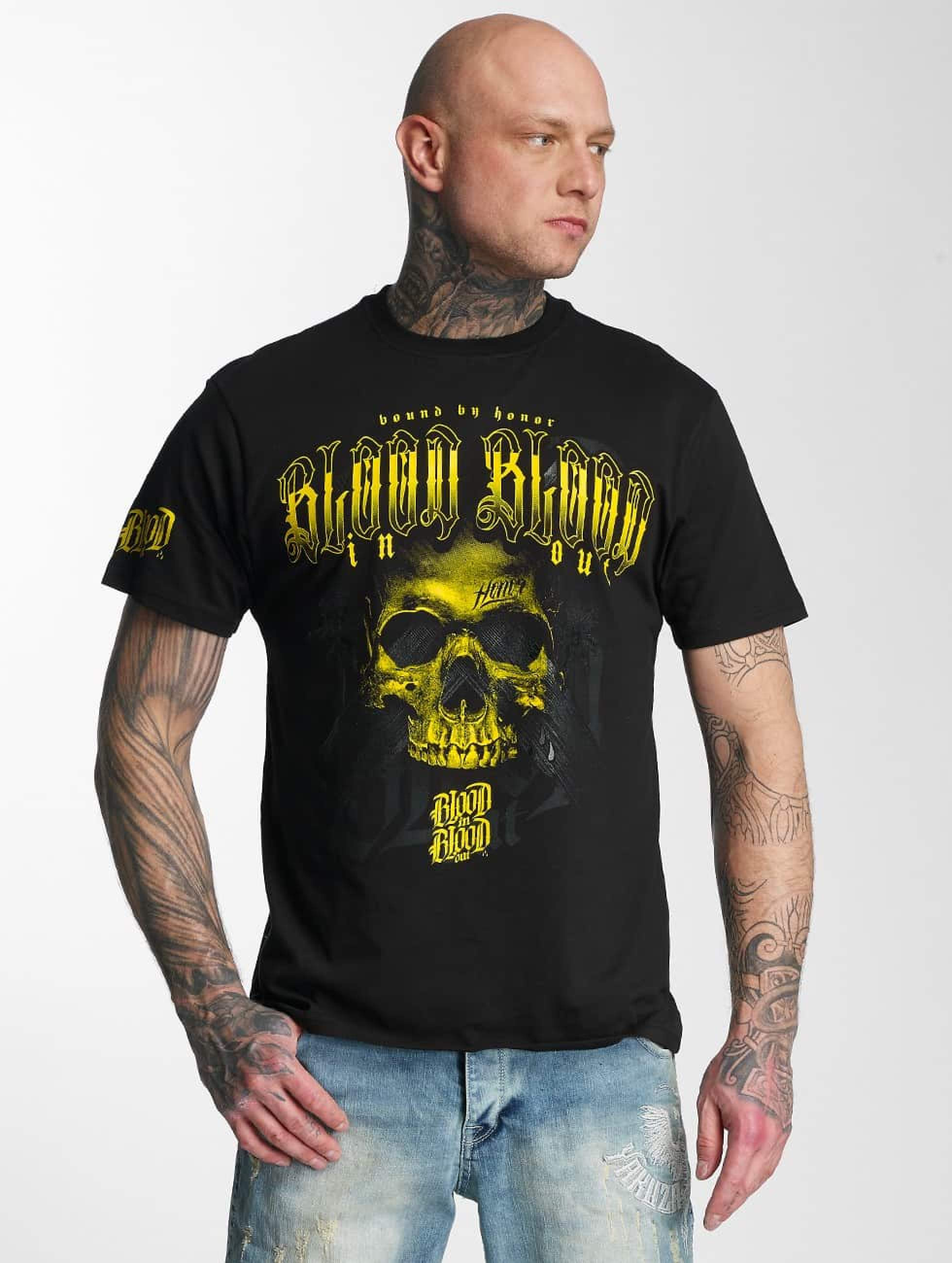 Blood In Blood Out | Yellow Honor noir Homme T-Shirt
