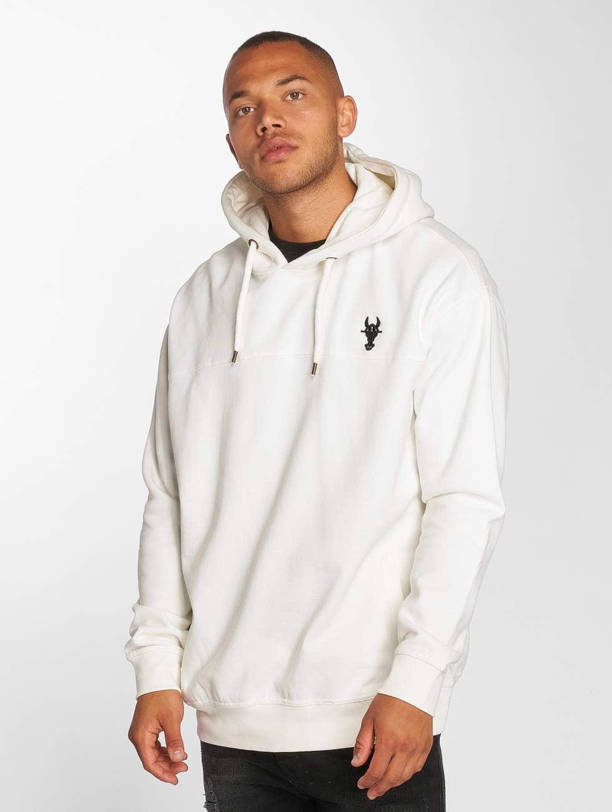 De Ferro / Hoodie Bull in white XL