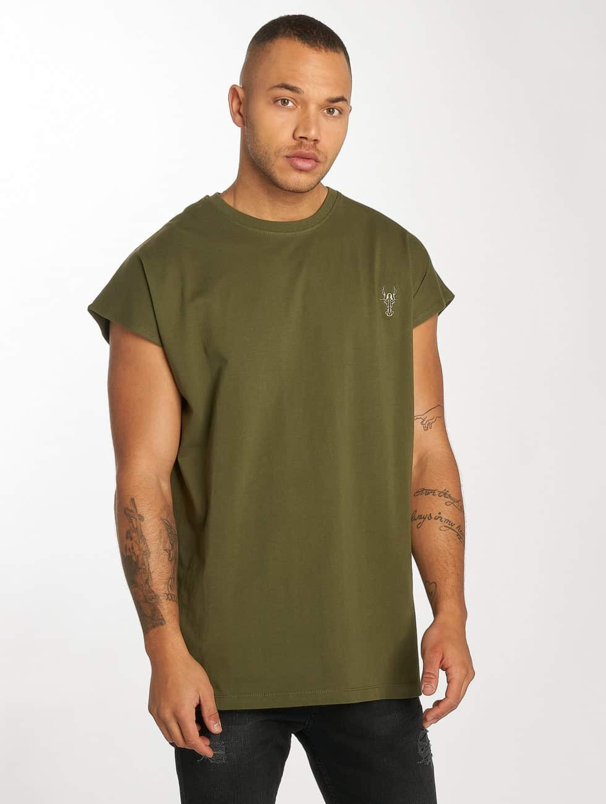 De Ferro / T-Shirt Bat Sleeve in olive S