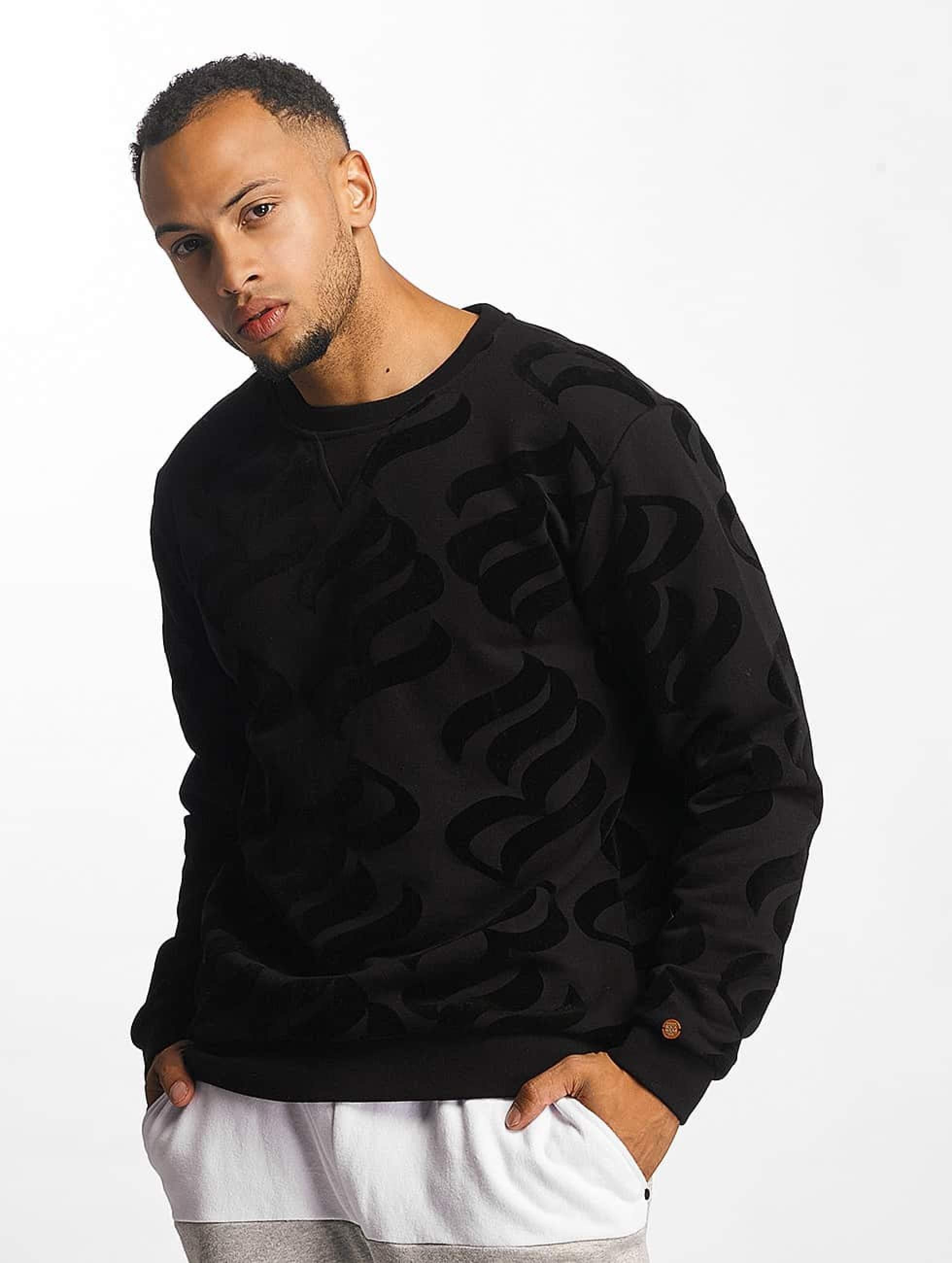 Rocawear / Jumper Retro Velour in black XL