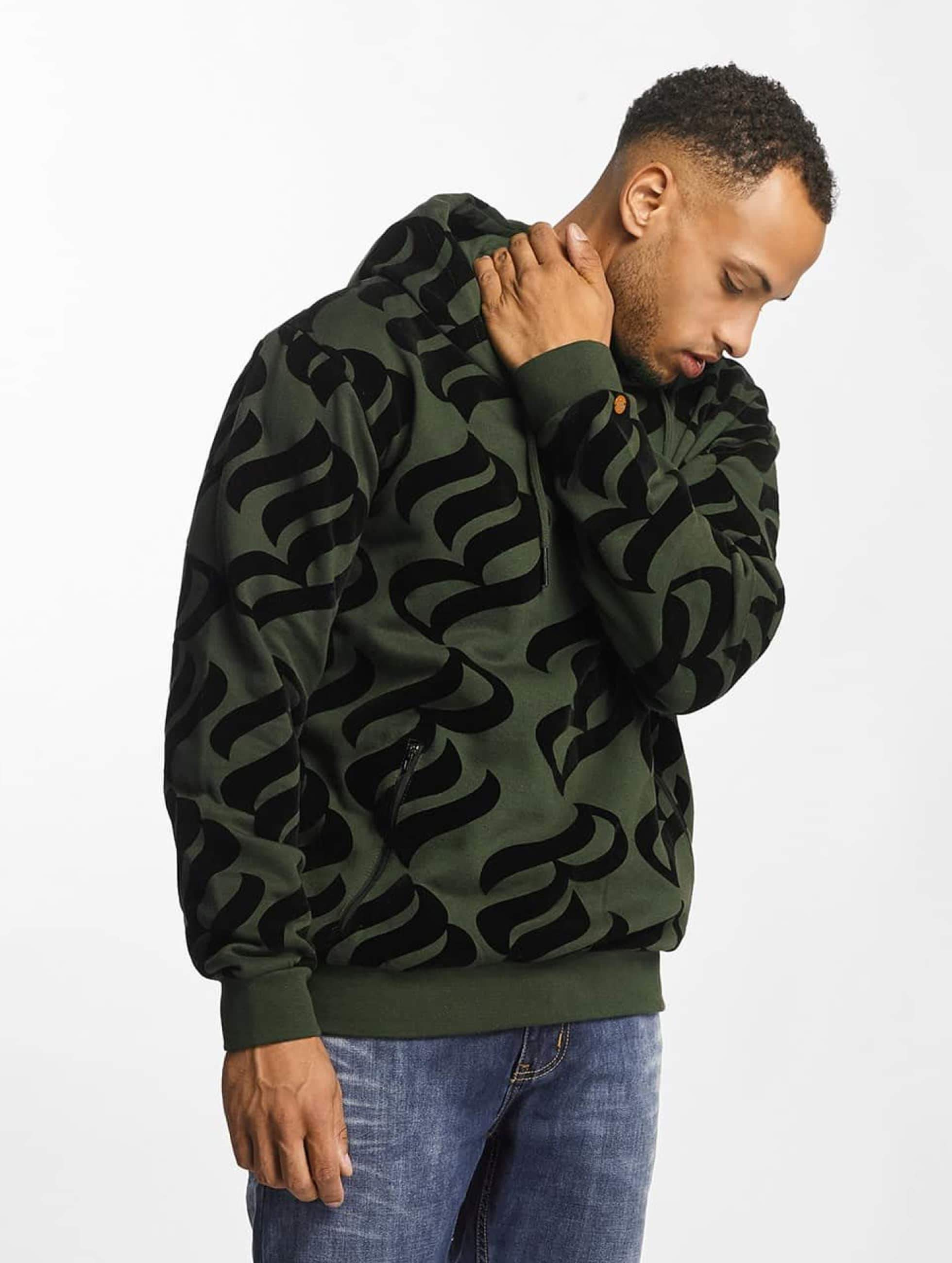 Rocawear / Hoodie Retro Velour in olive S