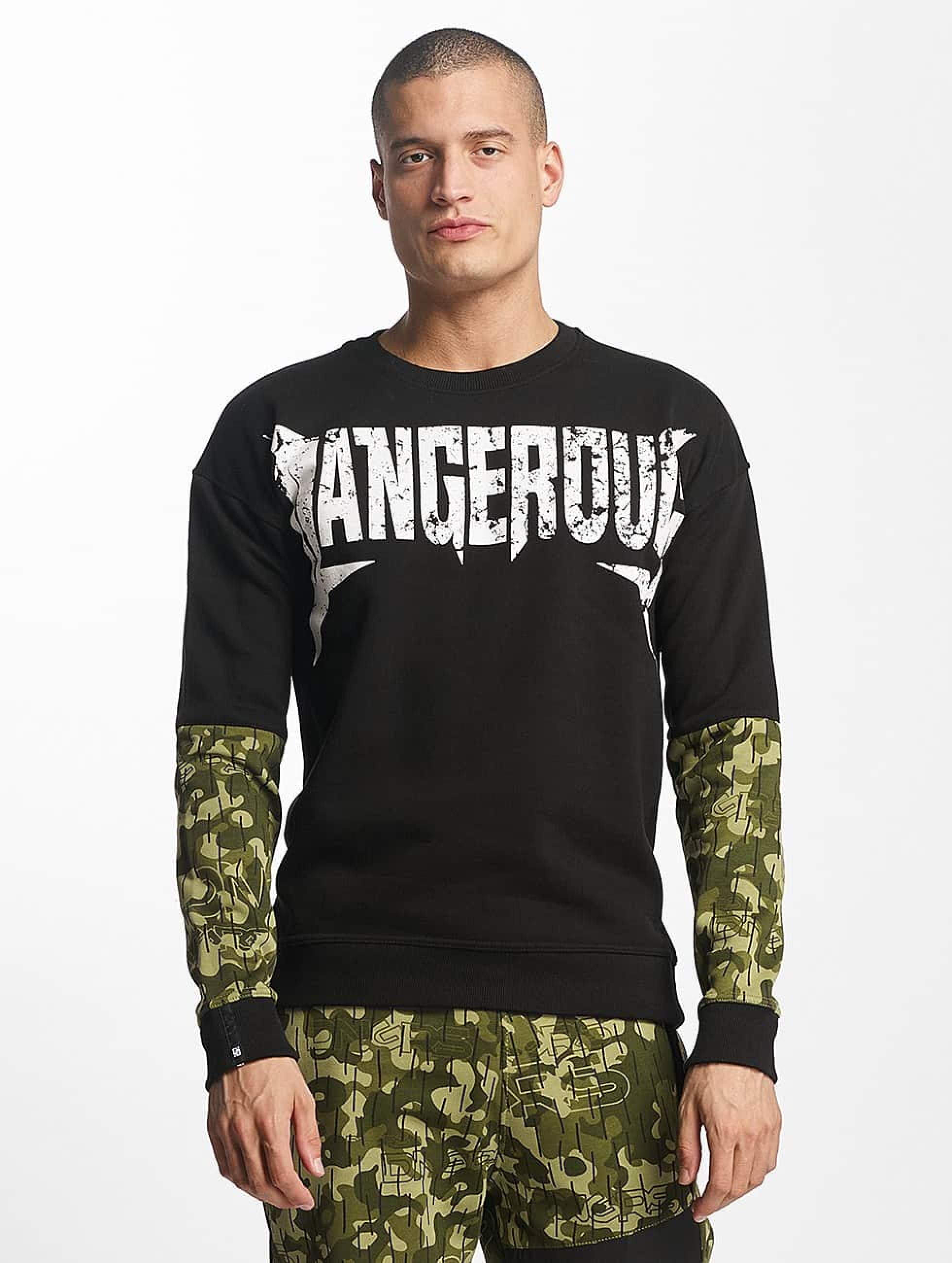Dangerous DNGRS / Jumper Methal in black 4XL