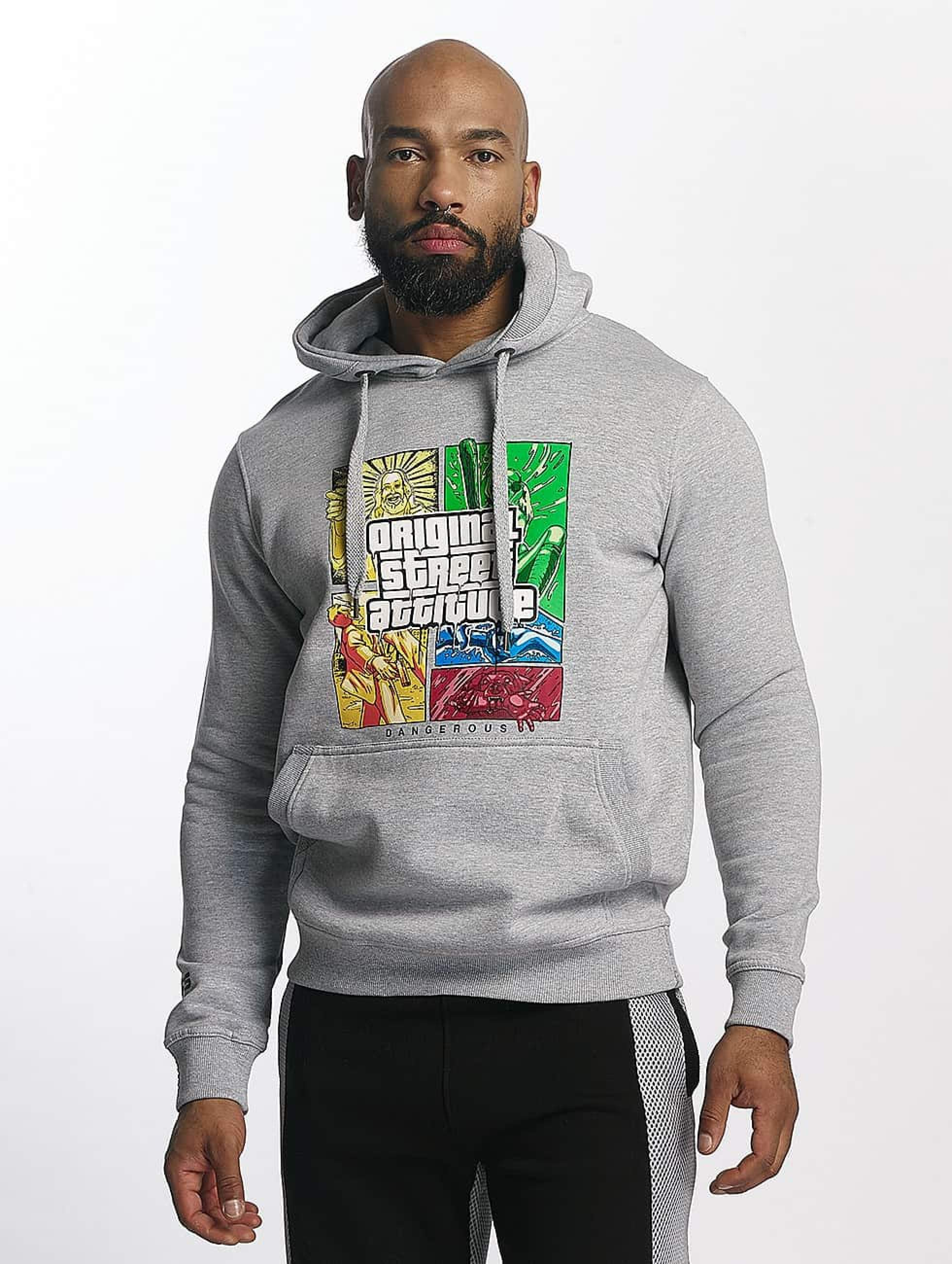 Dangerous DNGRS / Hoodie GTA in grey 2XL