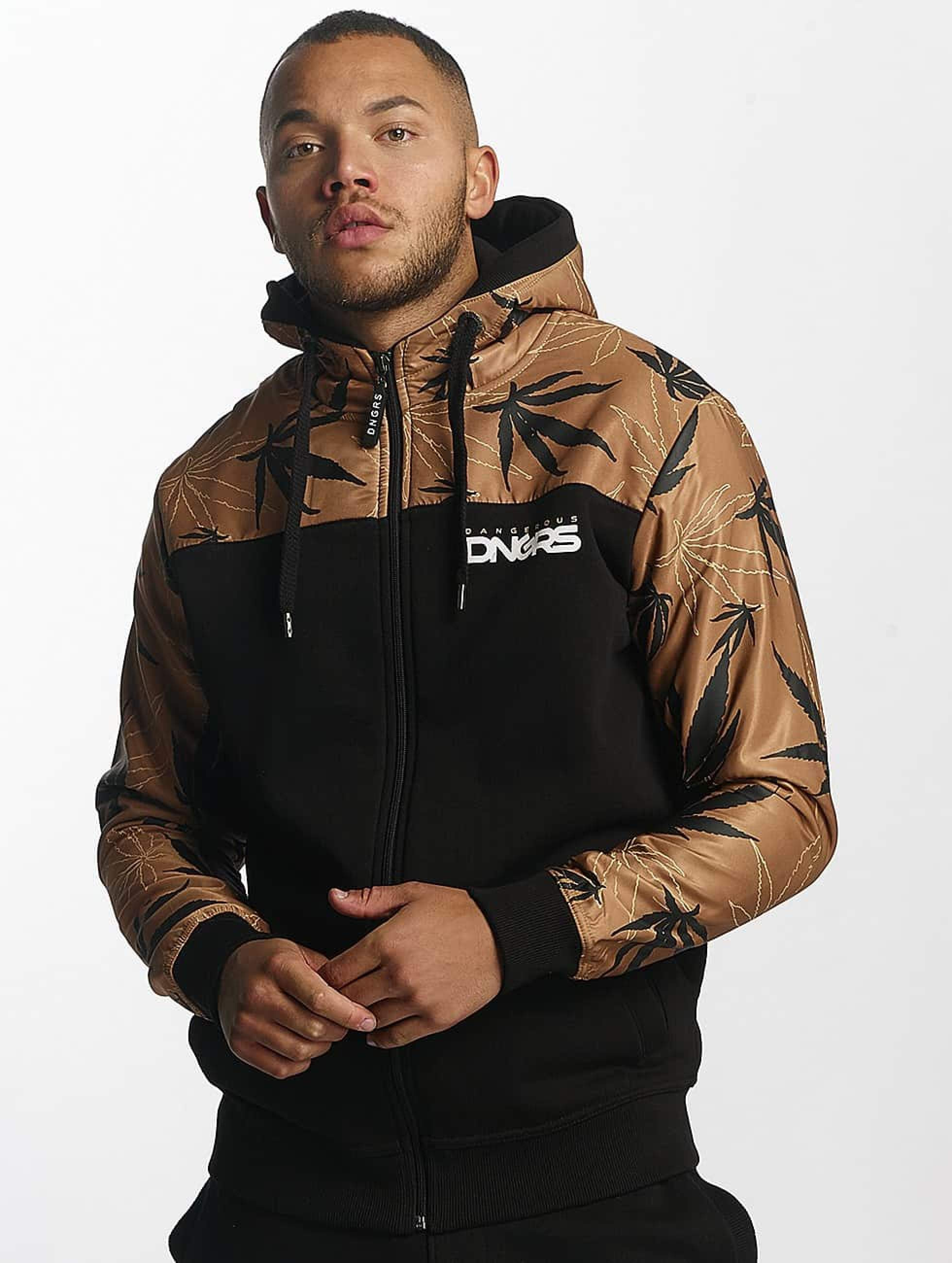 Dangerous DNGRS / Zip Hoodie Health in brown 3XL