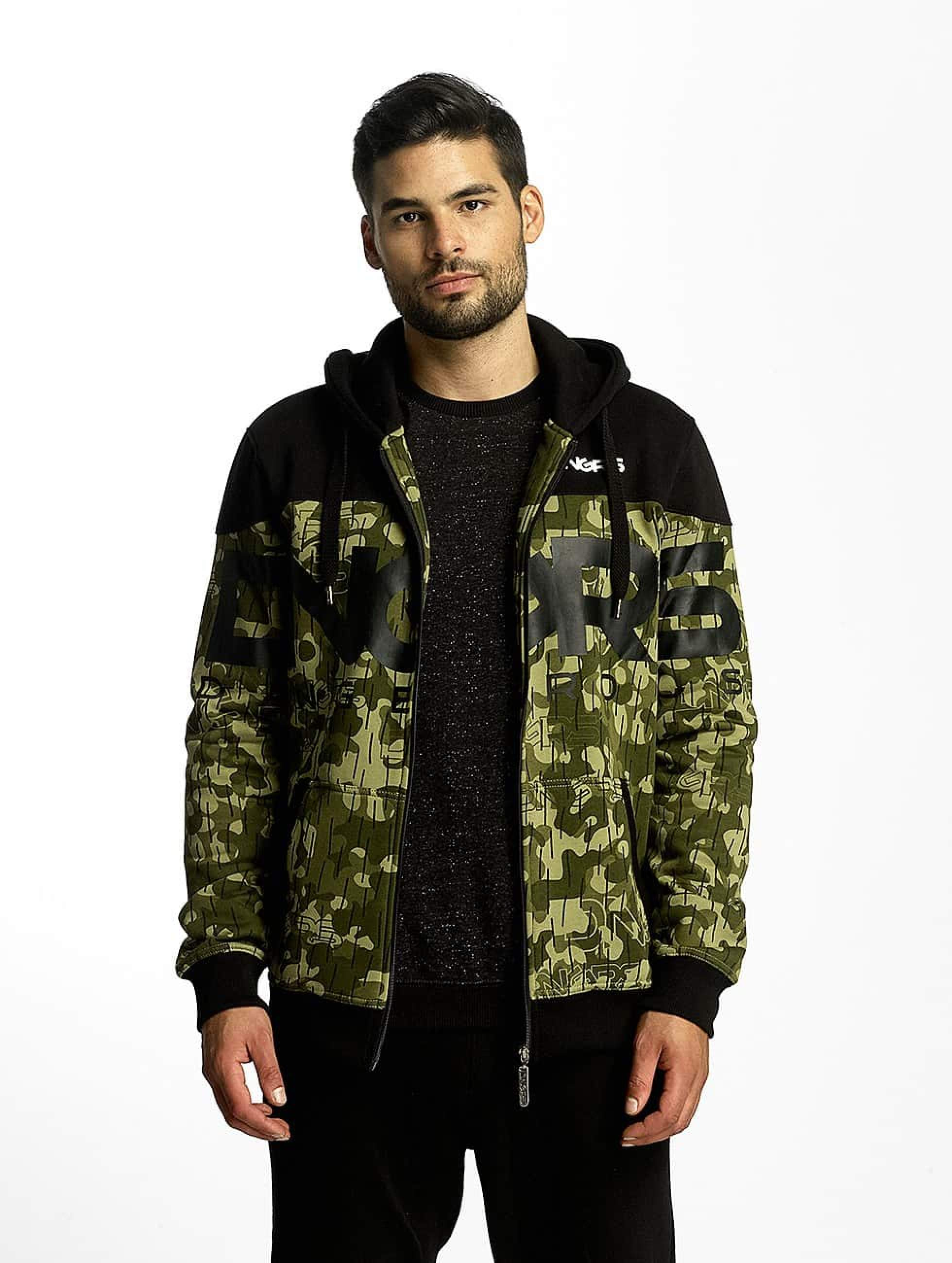 Dangerous DNGRS / Zip Hoodie Two Tone in camouflage 2XL