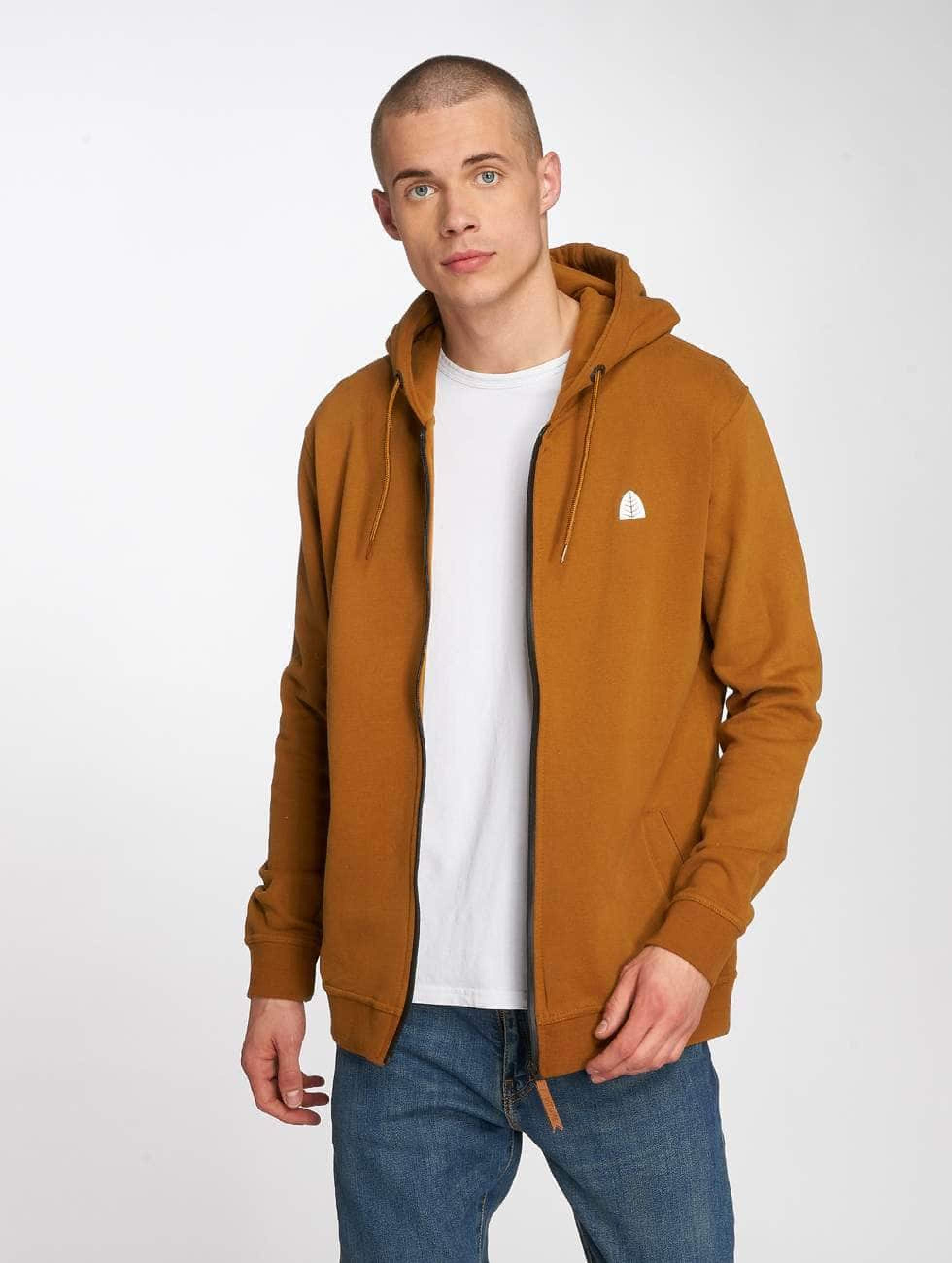 Just Rhyse / Zip Hoodie Hoonah in brown 3XL