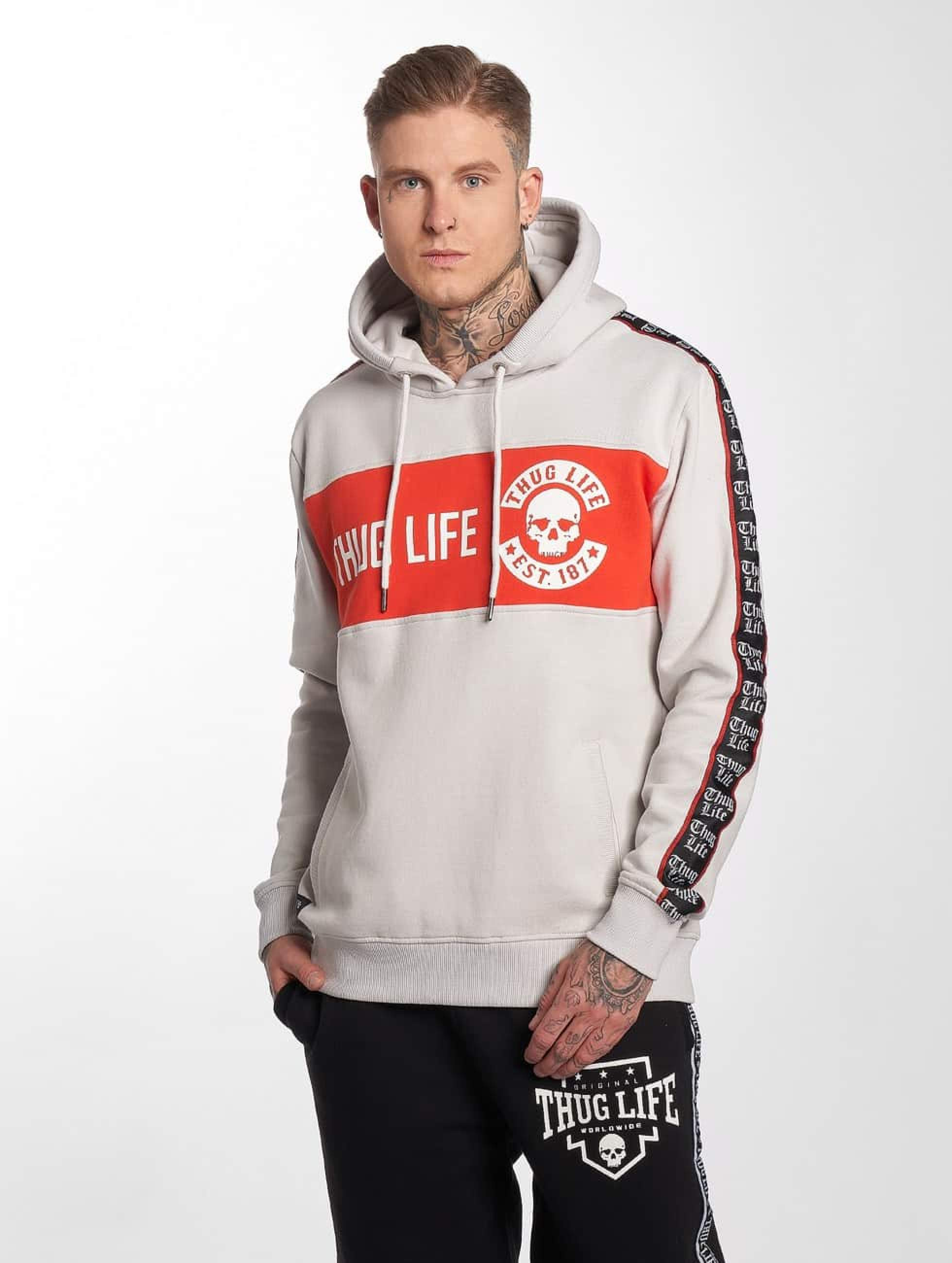 Thug Life / Hoodie Lux in grey 4XL