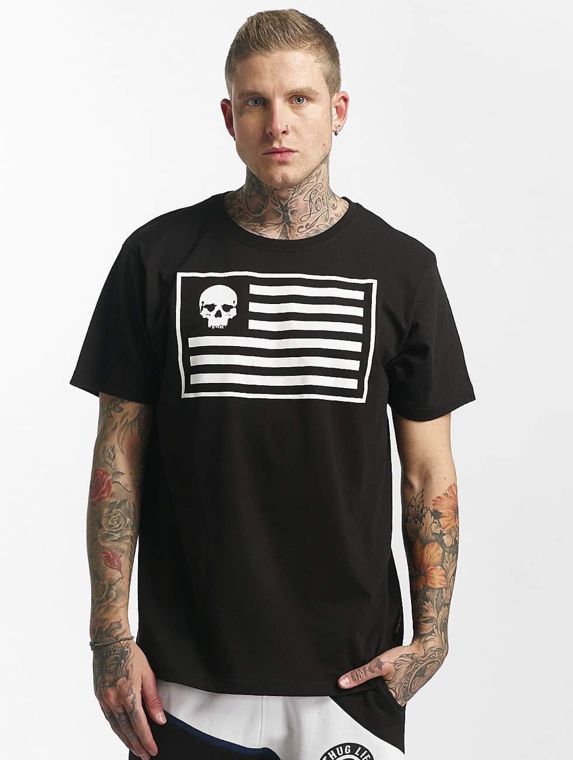 Thug Life / T-Shirt Flag in black S