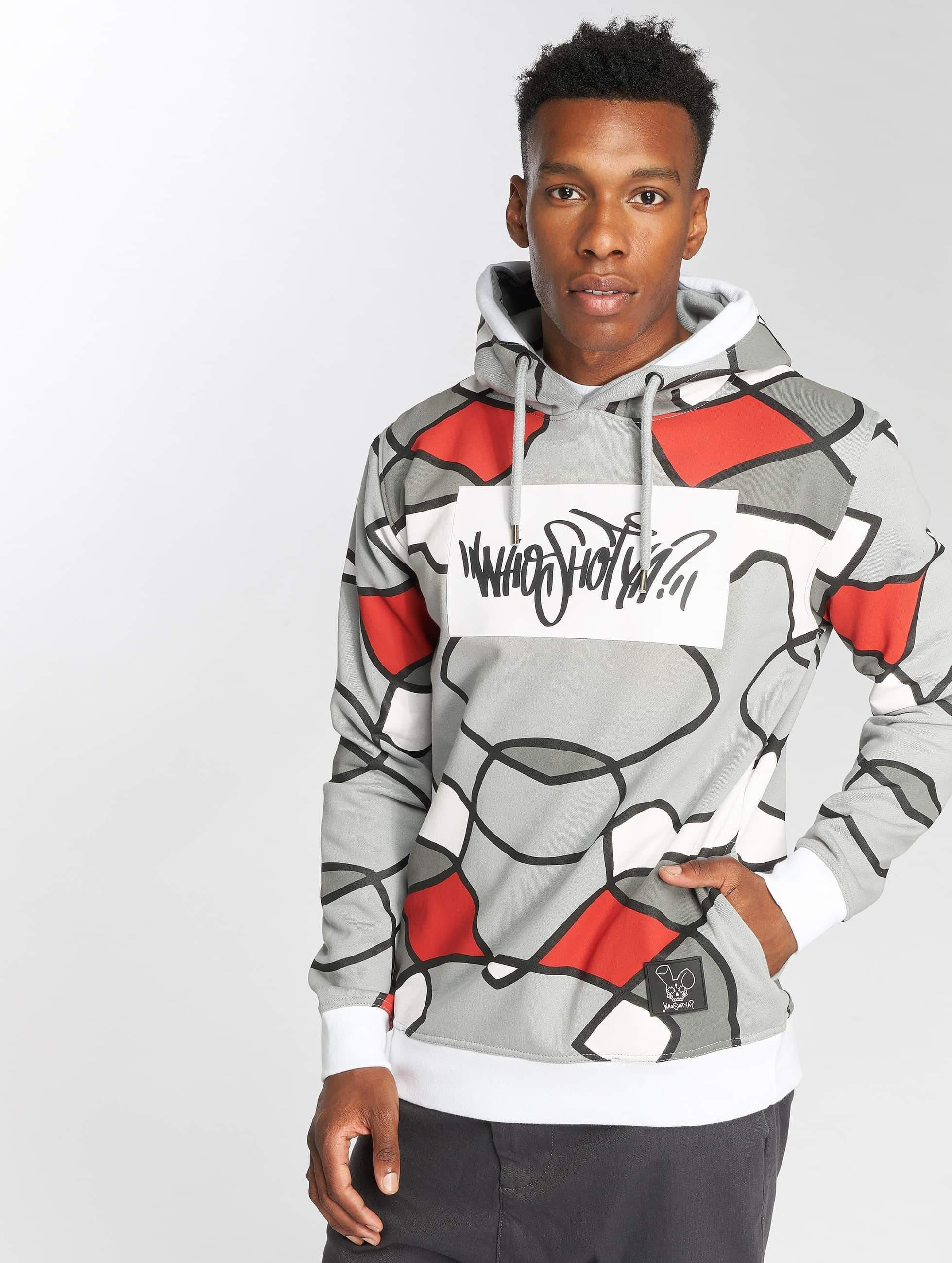 Who Shot Ya? / Hoodie W Lines in grey 3XL