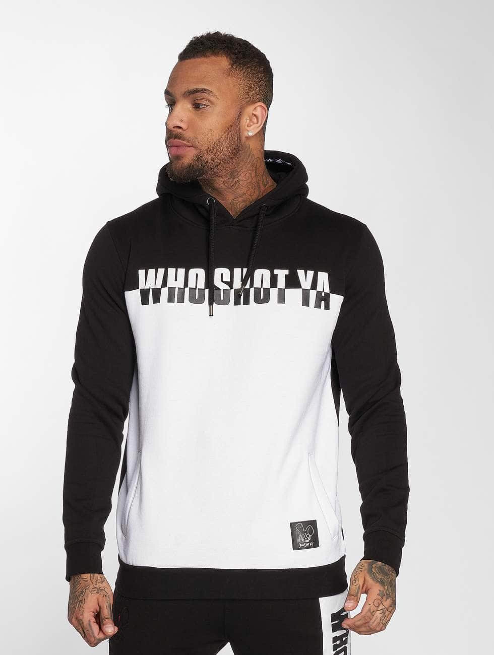 Who Shot Ya? / Hoodie B and W in black XL