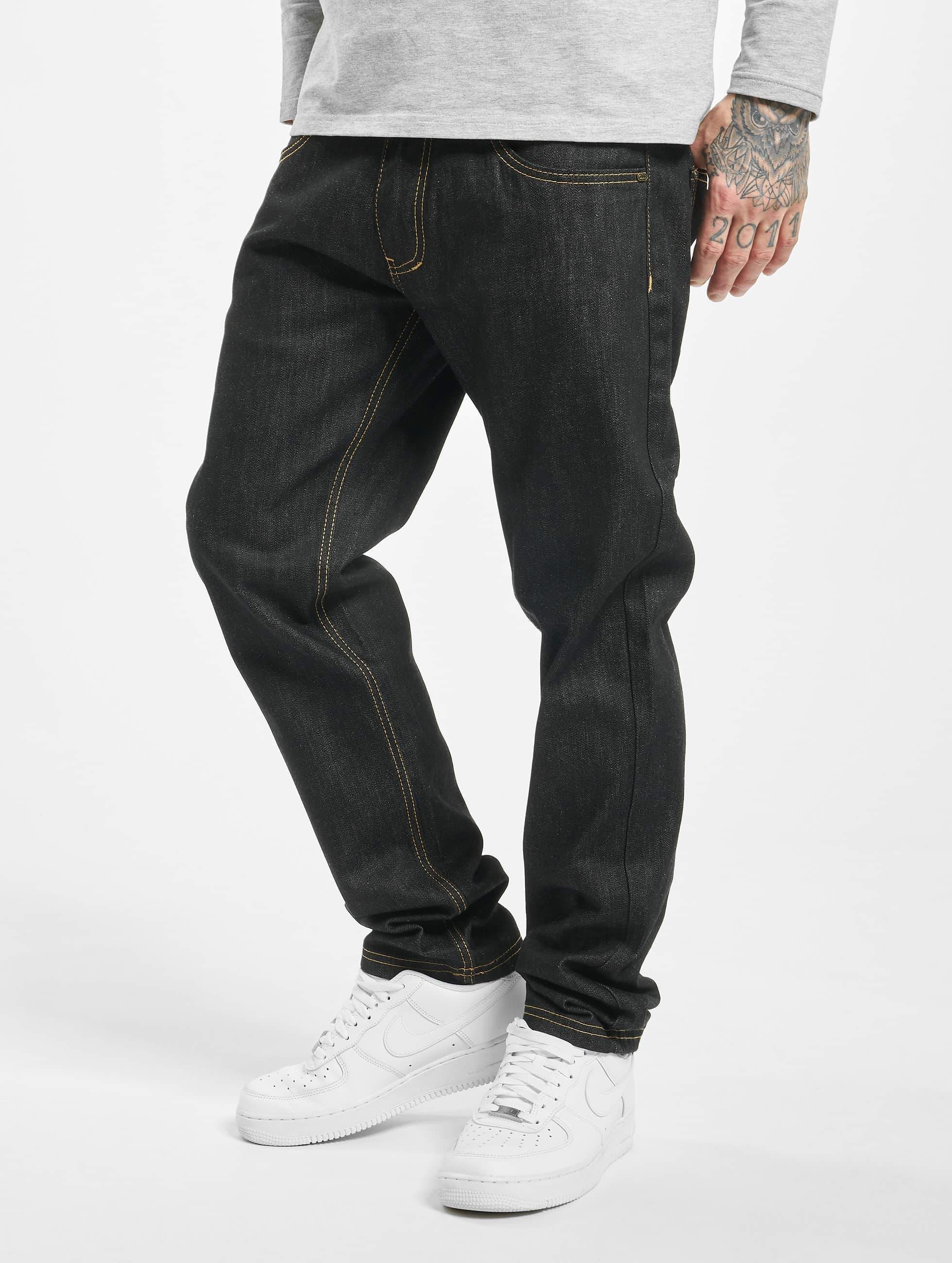 Ecko Unltd. / Straight Fit Jeans Bour Bonstreet in black W 40 L 34