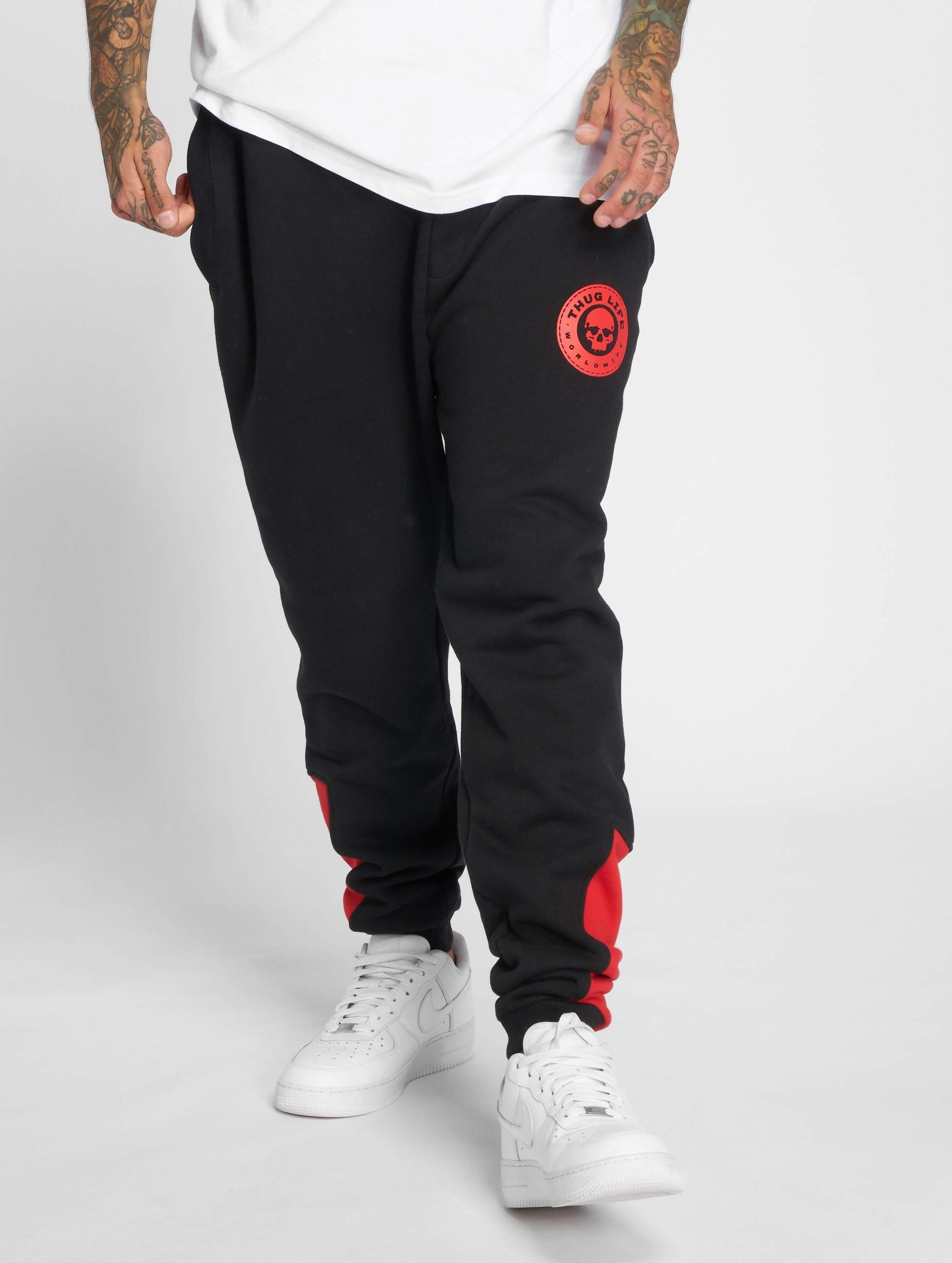 Thug Life / Sweat Pant Kvartas in black XL
