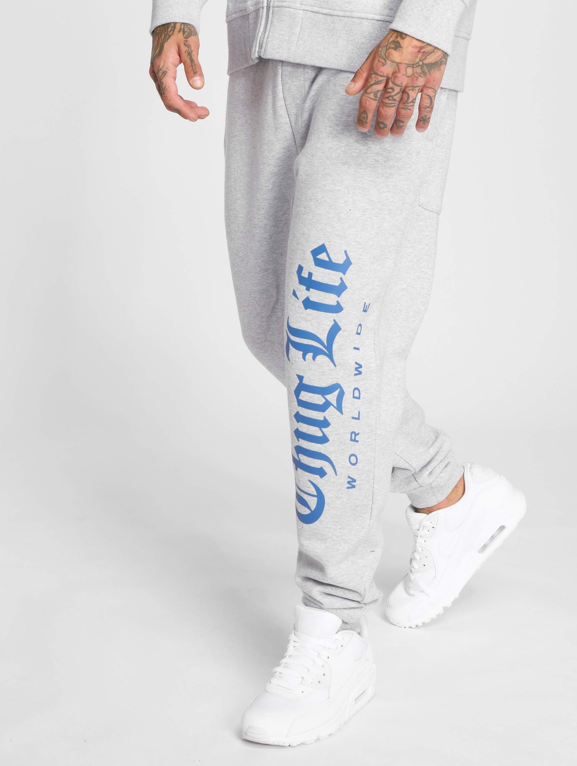 Thug Life / Sweat Pant Freeze in grey L