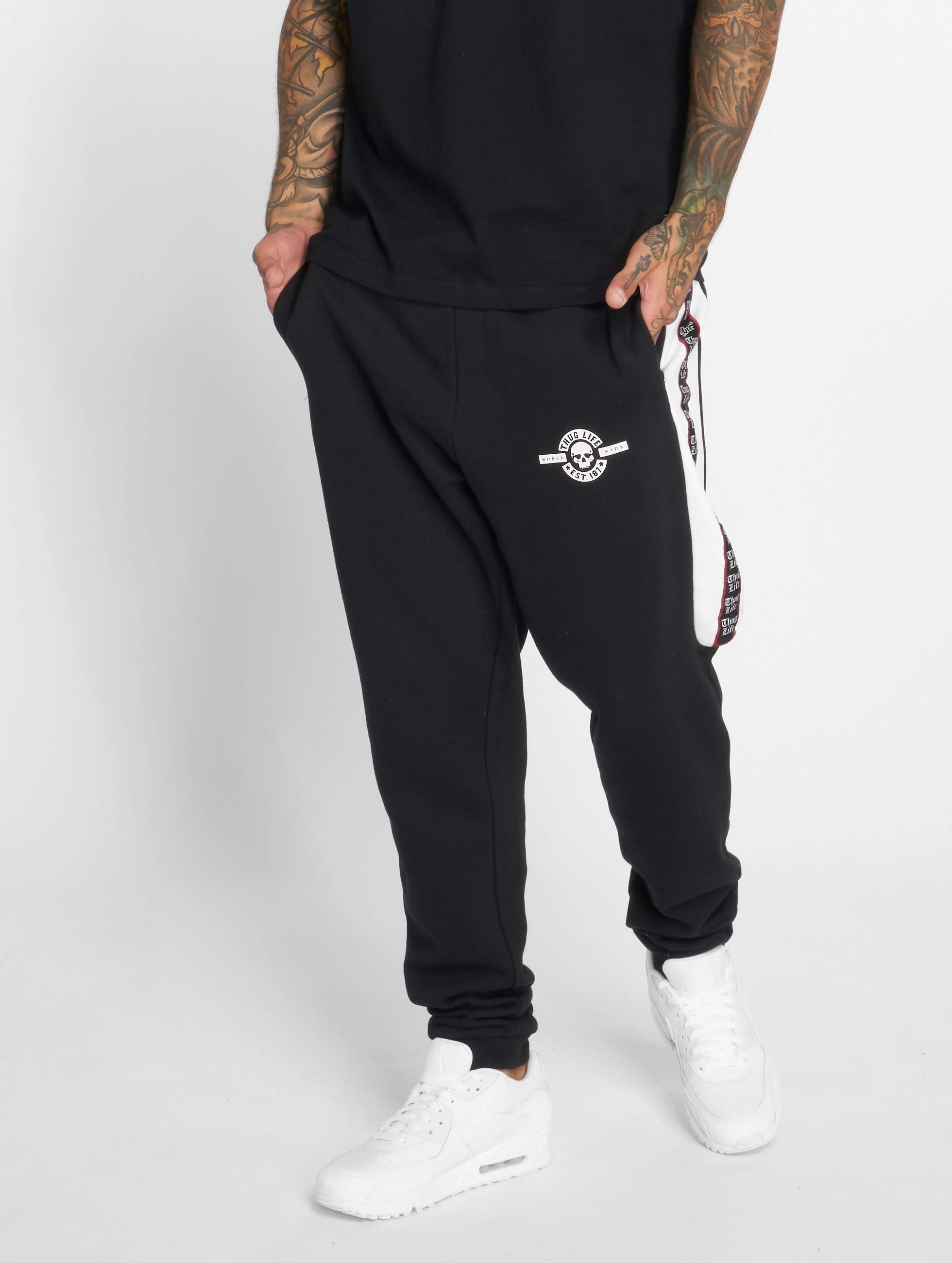 Thug Life / Sweat Pant Python in black XL