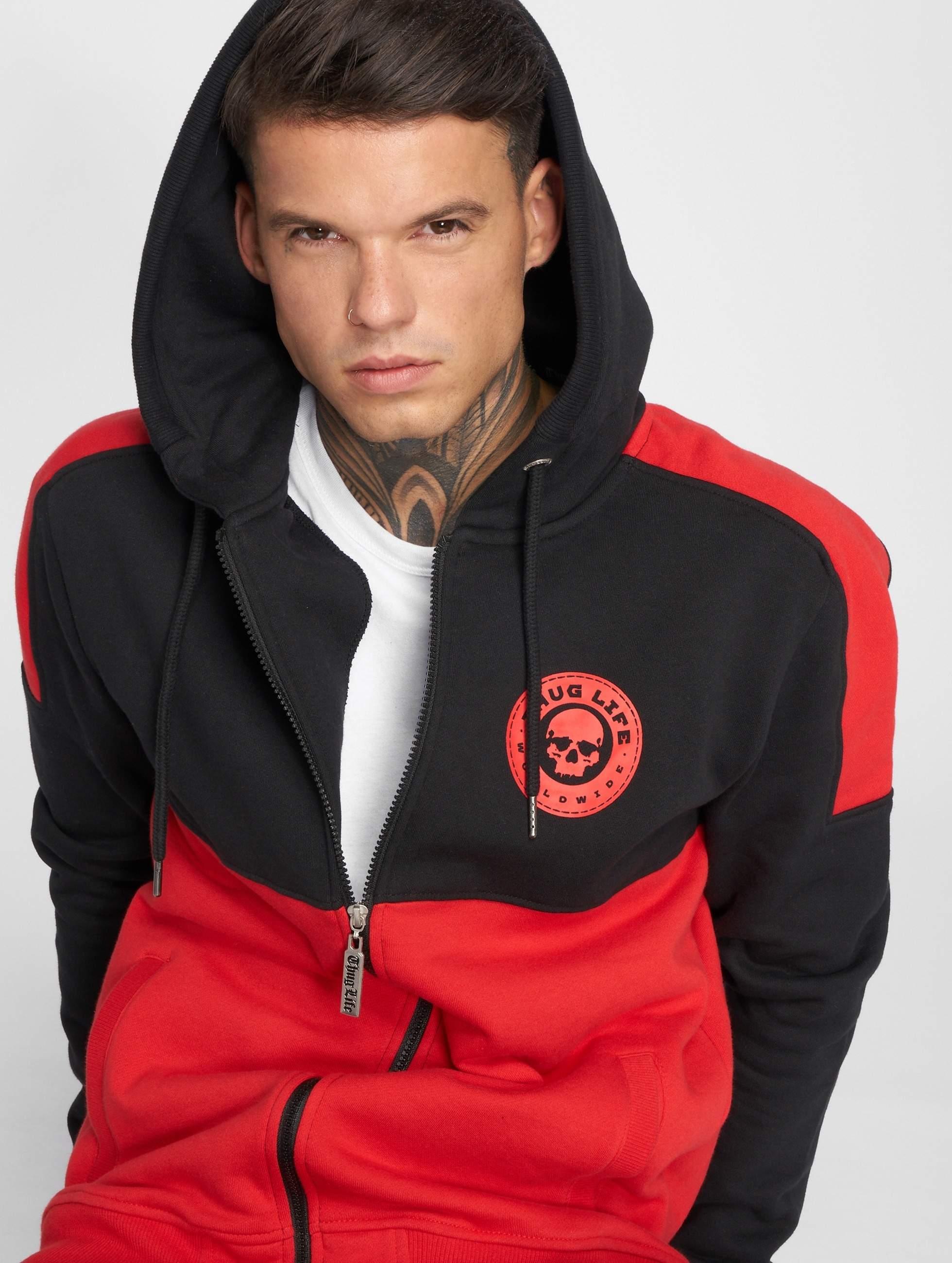Thug Life / Zip Hoodie Kvartas in black XL
