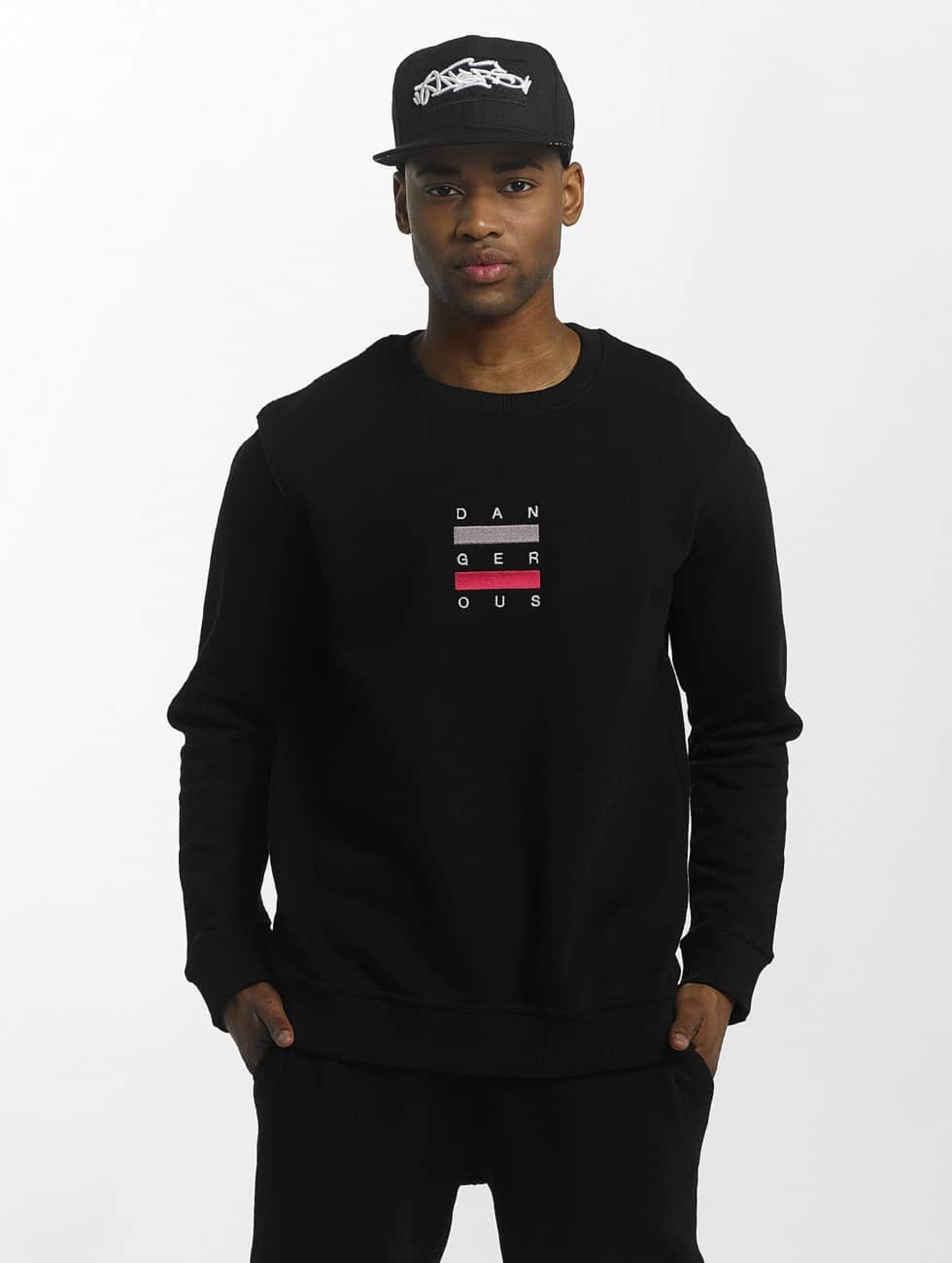 Dangerous DNGRS / Pullover Uncaged in black XL
