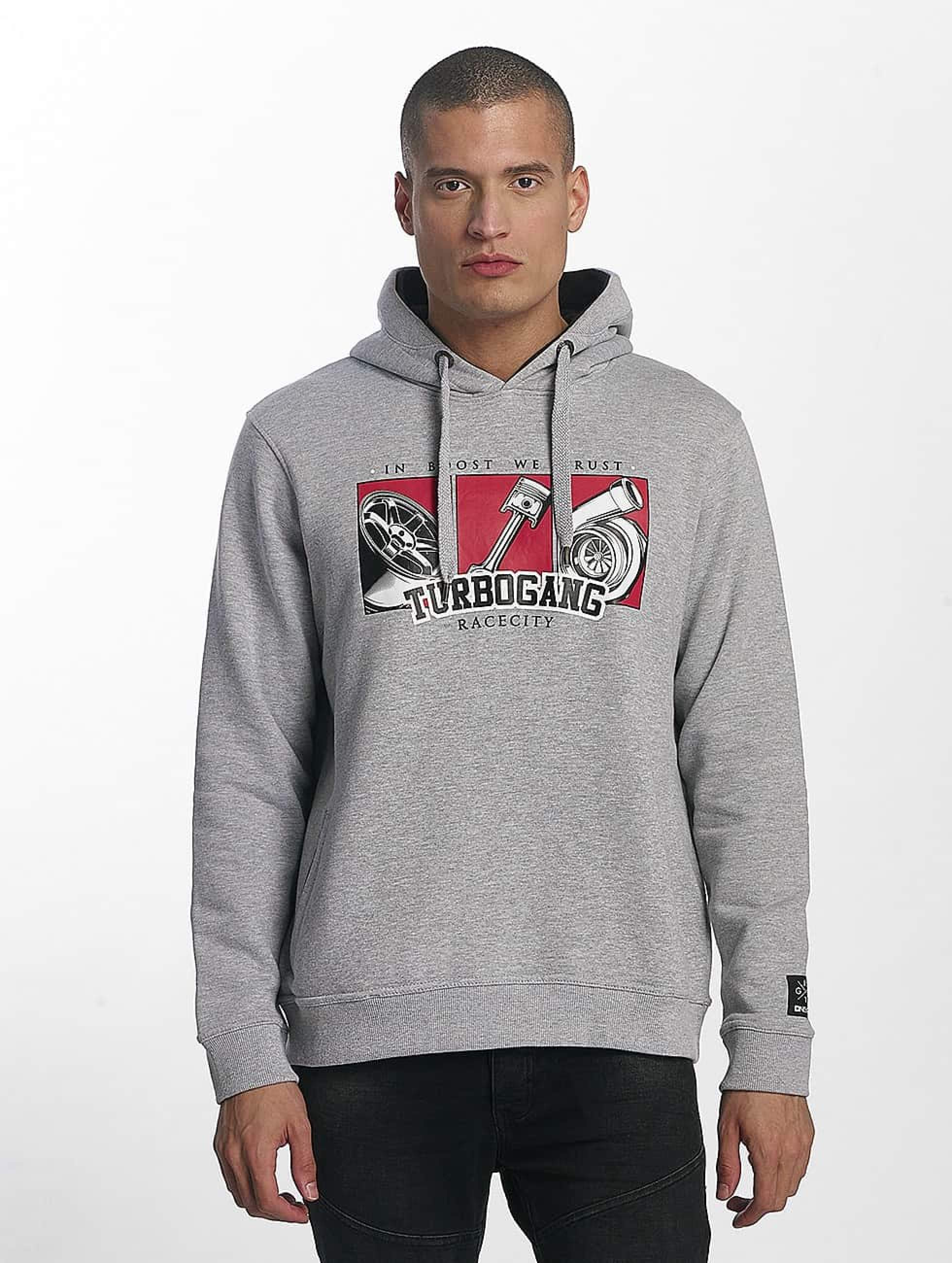 Dangerous DNGRS / Hoodie Race City IBWT in grey 6XL