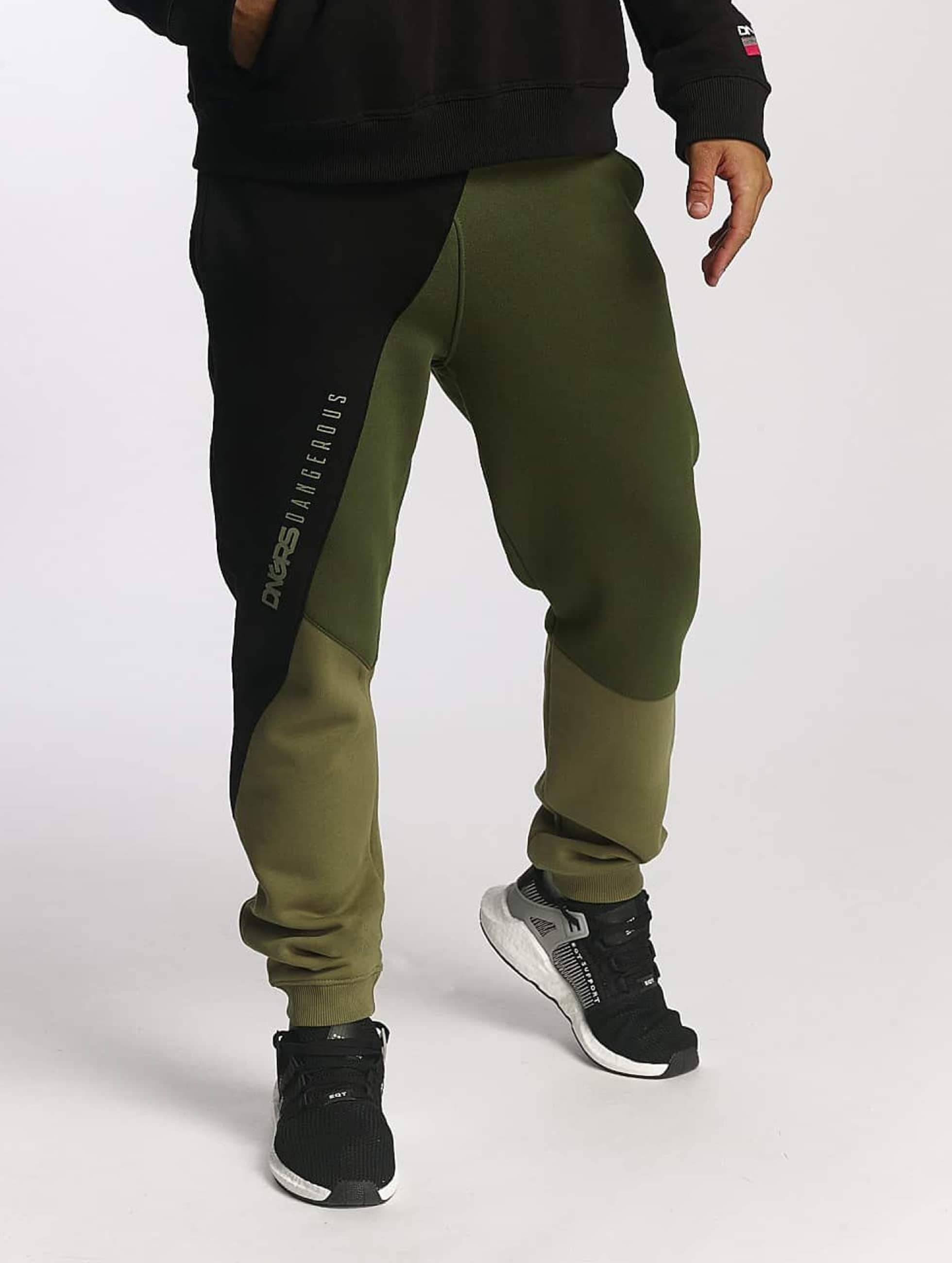 Dangerous DNGRS / Sweat Pant Tribble in olive S