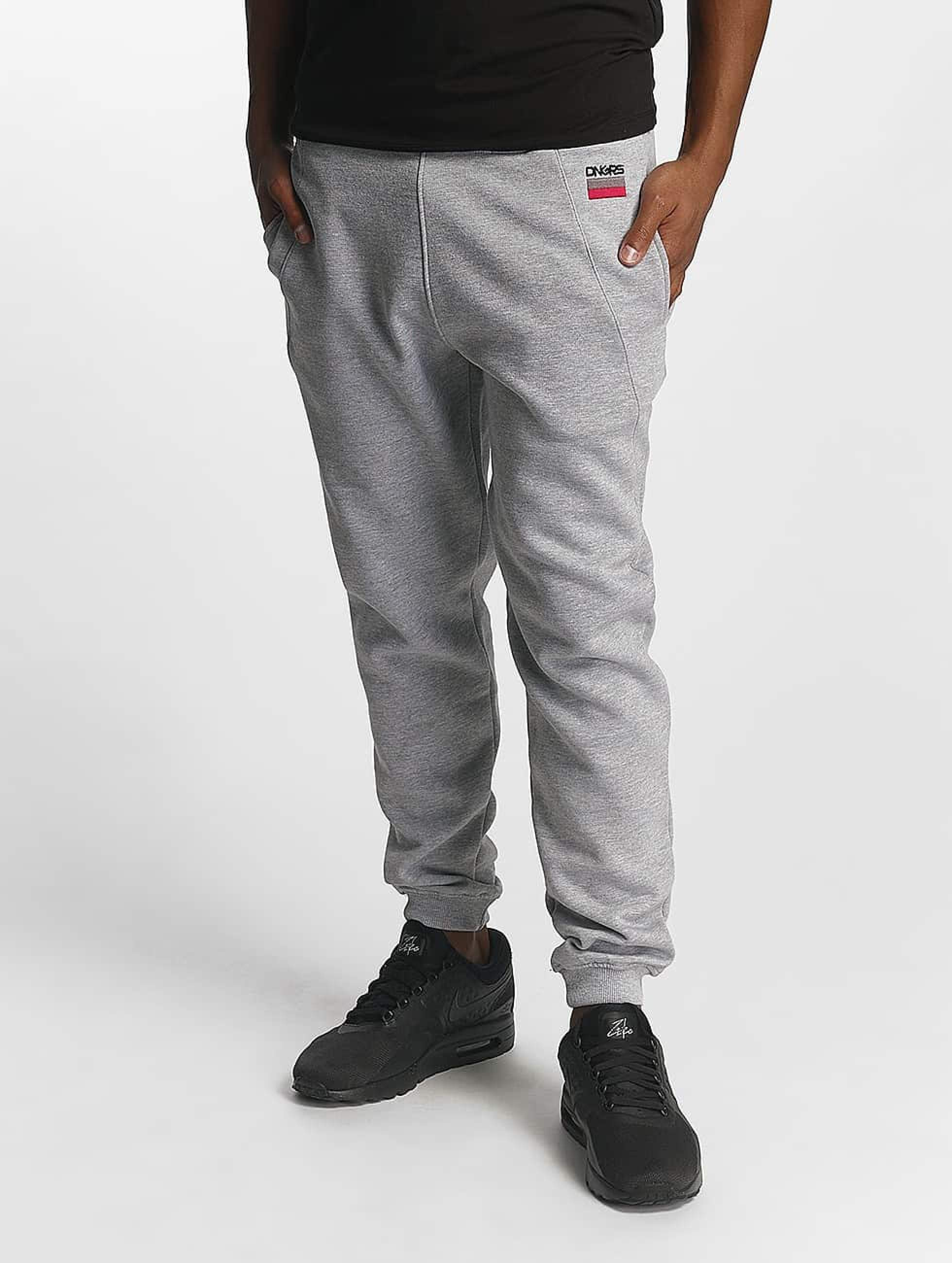 Dangerous DNGRS / Sweat Pant Twoblock in grey 5XL