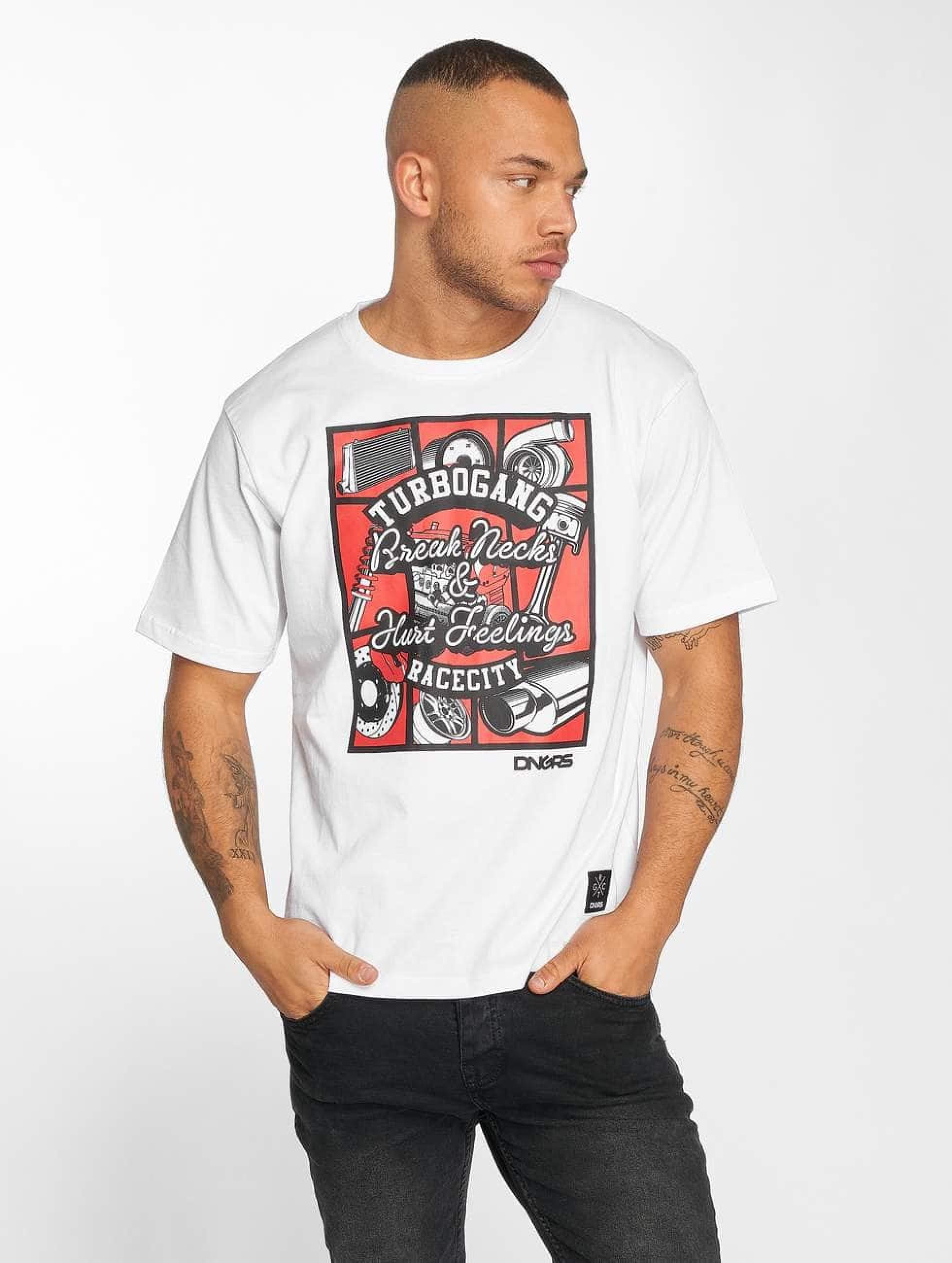 Dangerous DNGRS / T-Shirt Race City Carparts in white M